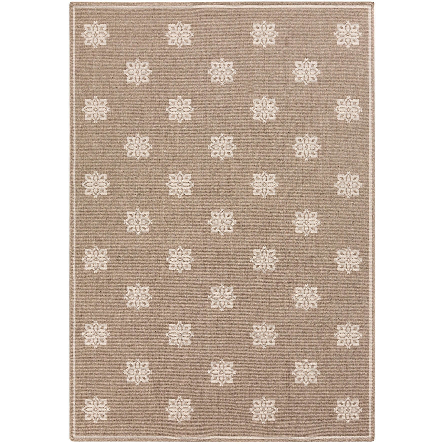 Meticulously Woven Jenna Contemporary Floral Indoor Outdoor Area