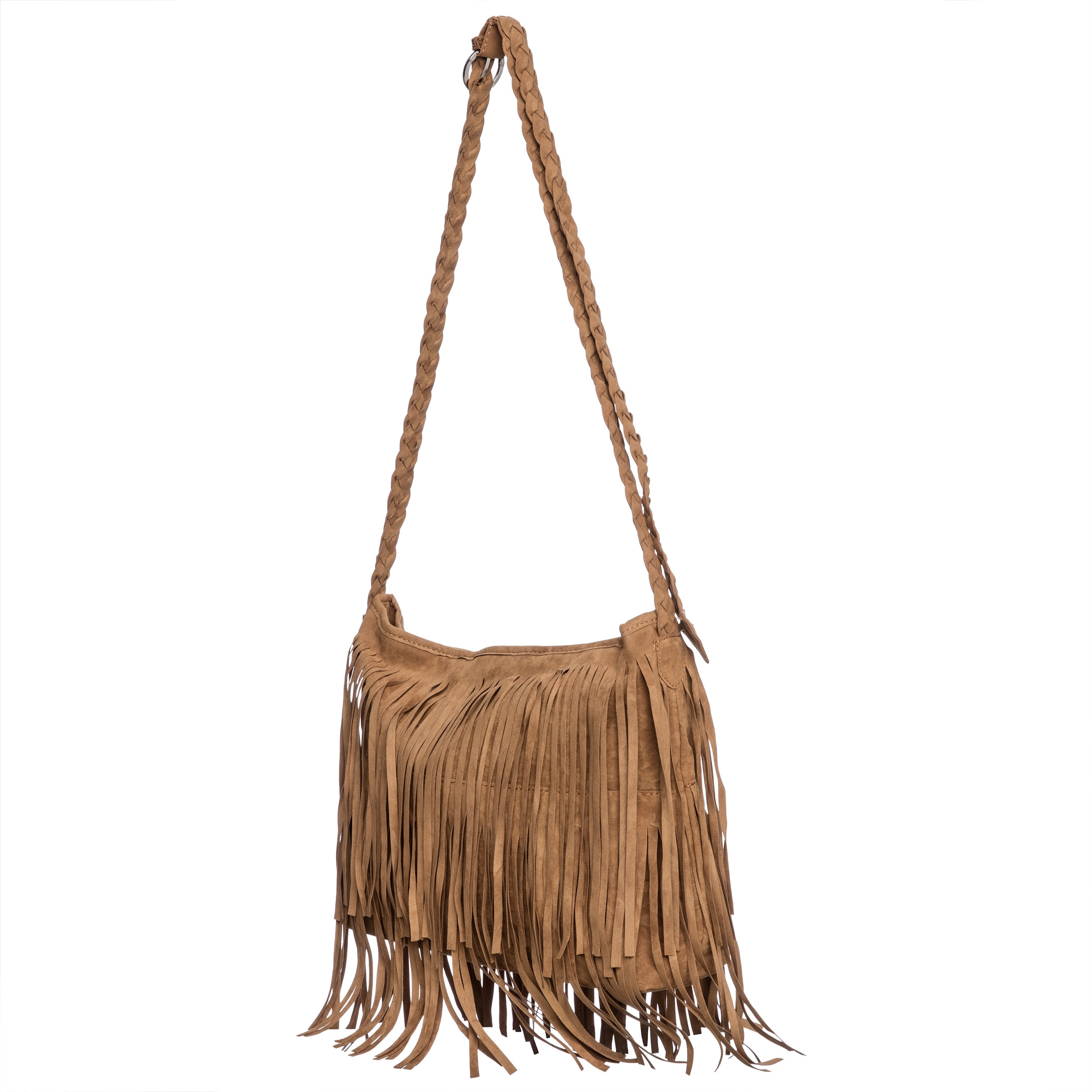Faux Suede Layered Fringe Shoulder Bag Free Shipping On Orders Over 45 9270493