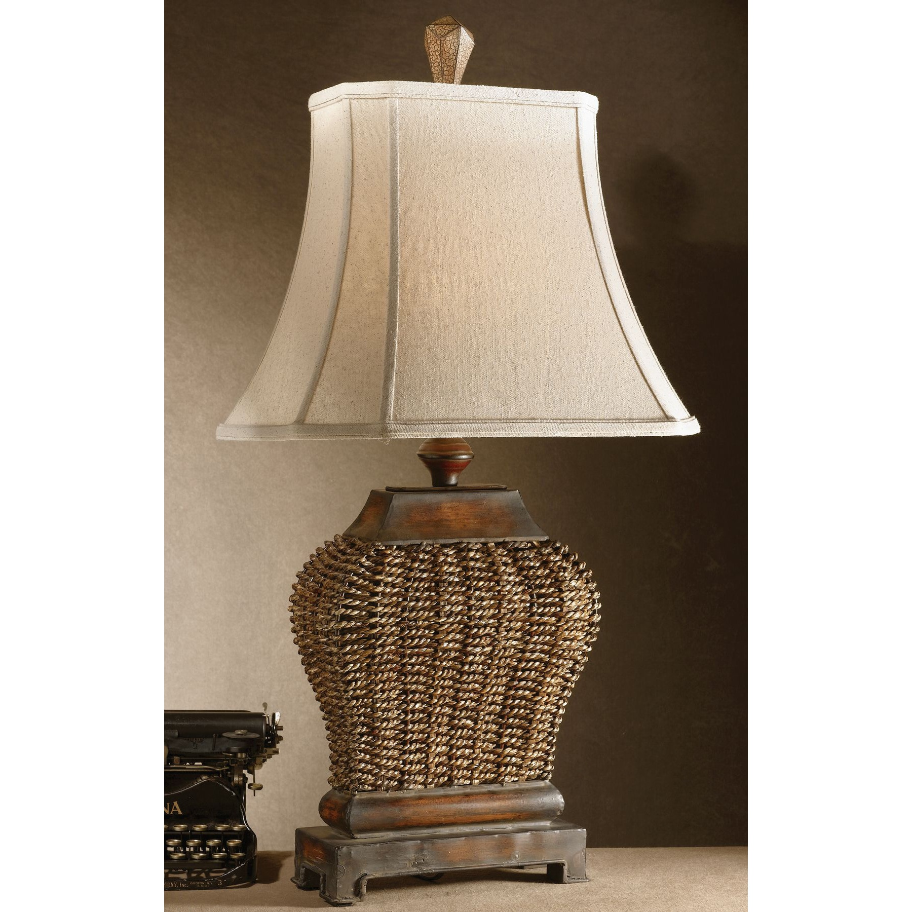 Beau Shop Uttermost Augustine 1 Light Mahogany Table Lamp   Free Shipping Today    Overstock.com   9270829