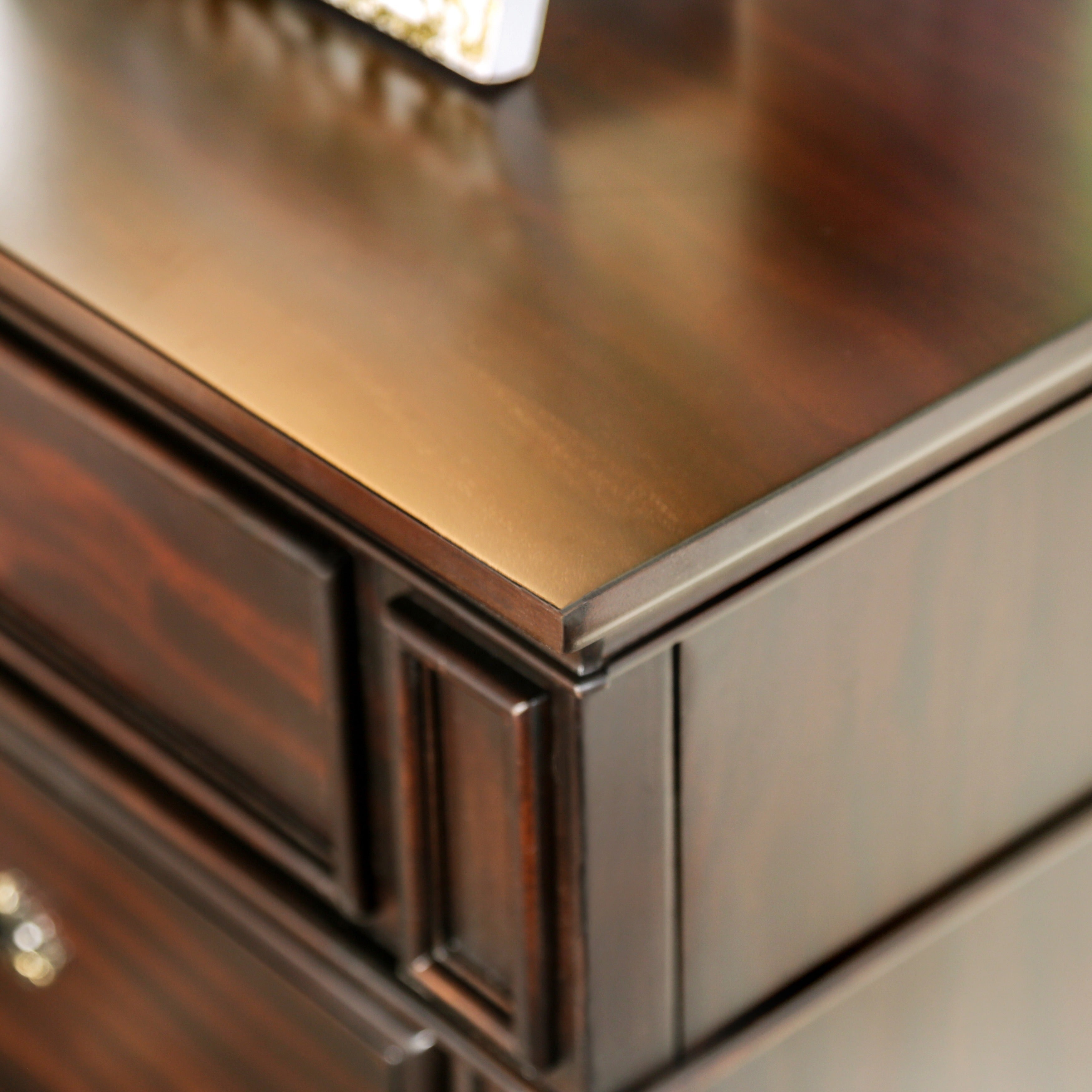 Furniture of America Grande Dark Walnut 3 Drawer Nightstand Free