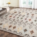 Safavieh Hand-Woven Kenya Natural/ Multi Wool Rug (9' x 12')