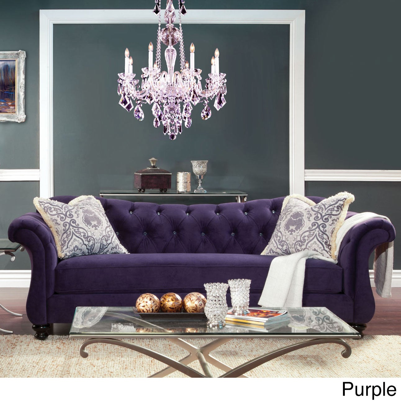 Furniture Of America Agatha Traditional Tufted Sofa   Free Shipping Today    Overstock.com   16437330