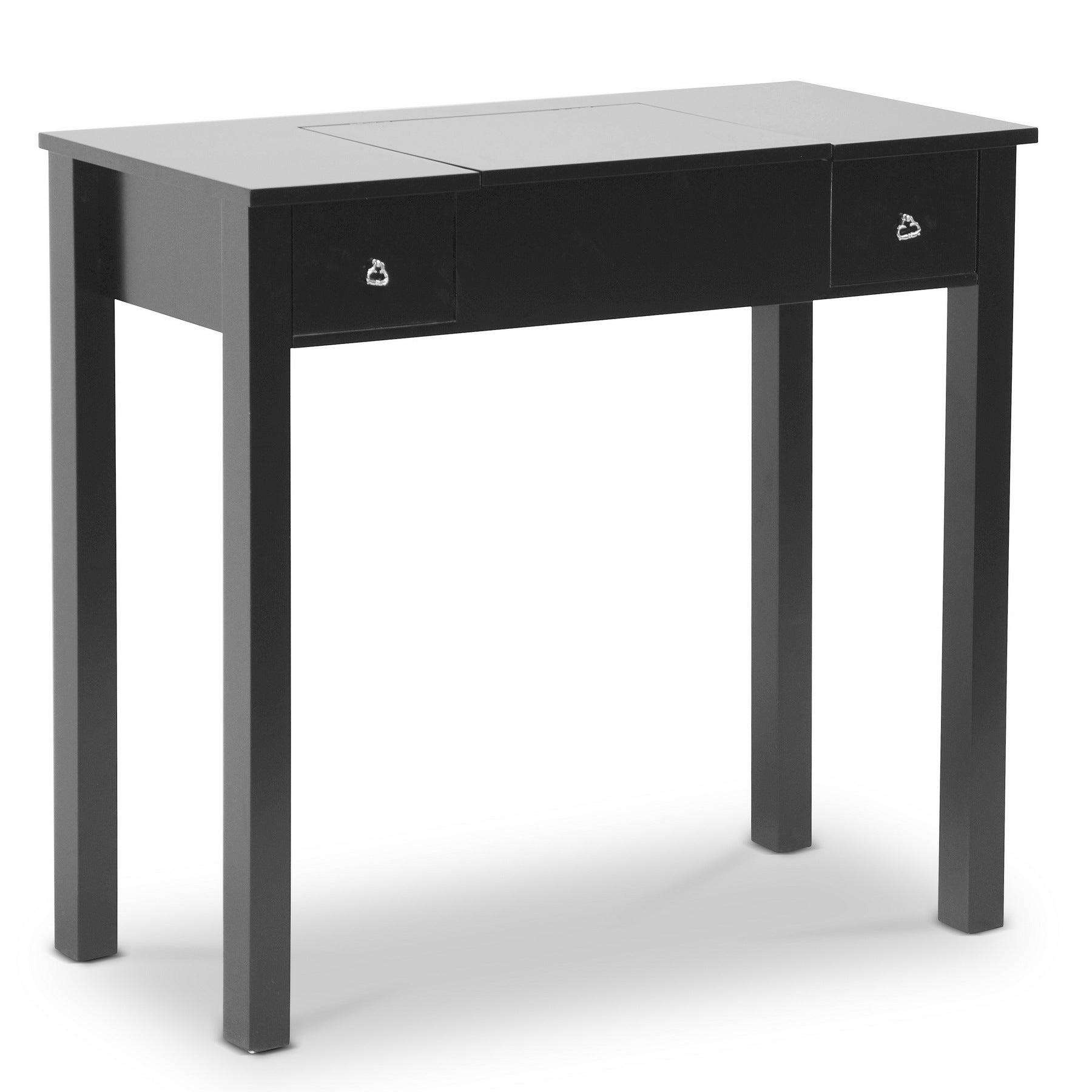 Shop Baxton Studio Marie Black Vanity Table/Dressing Table   On Sale   Free  Shipping Today   Overstock.com   9275713