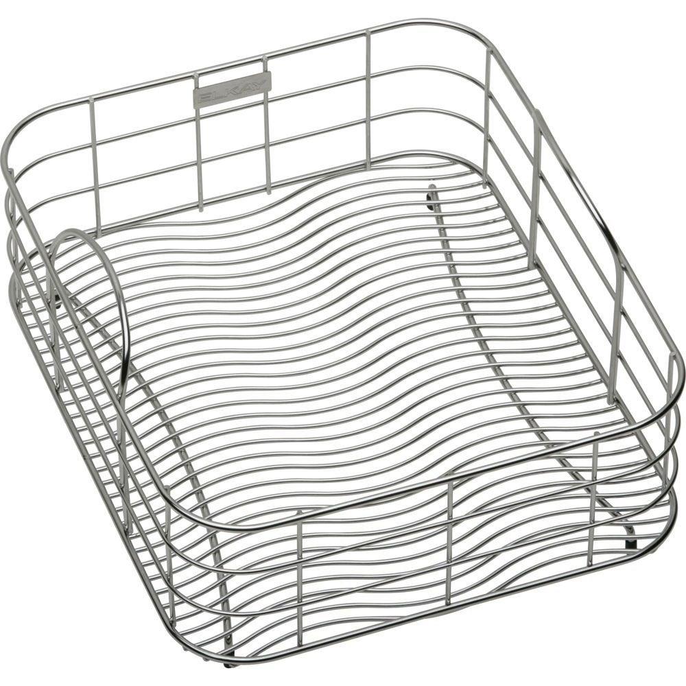 Shop Elkay Wavy Wire 15x10.5-inch Stainless Steel Rinsing Basket ...