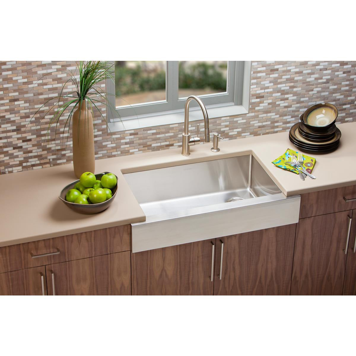 Etonnant Shop Elkay Crosstown Stainless Steel Single Bowl Apron Front Undermount Sink    Free Shipping Today   Overstock.com   9276083