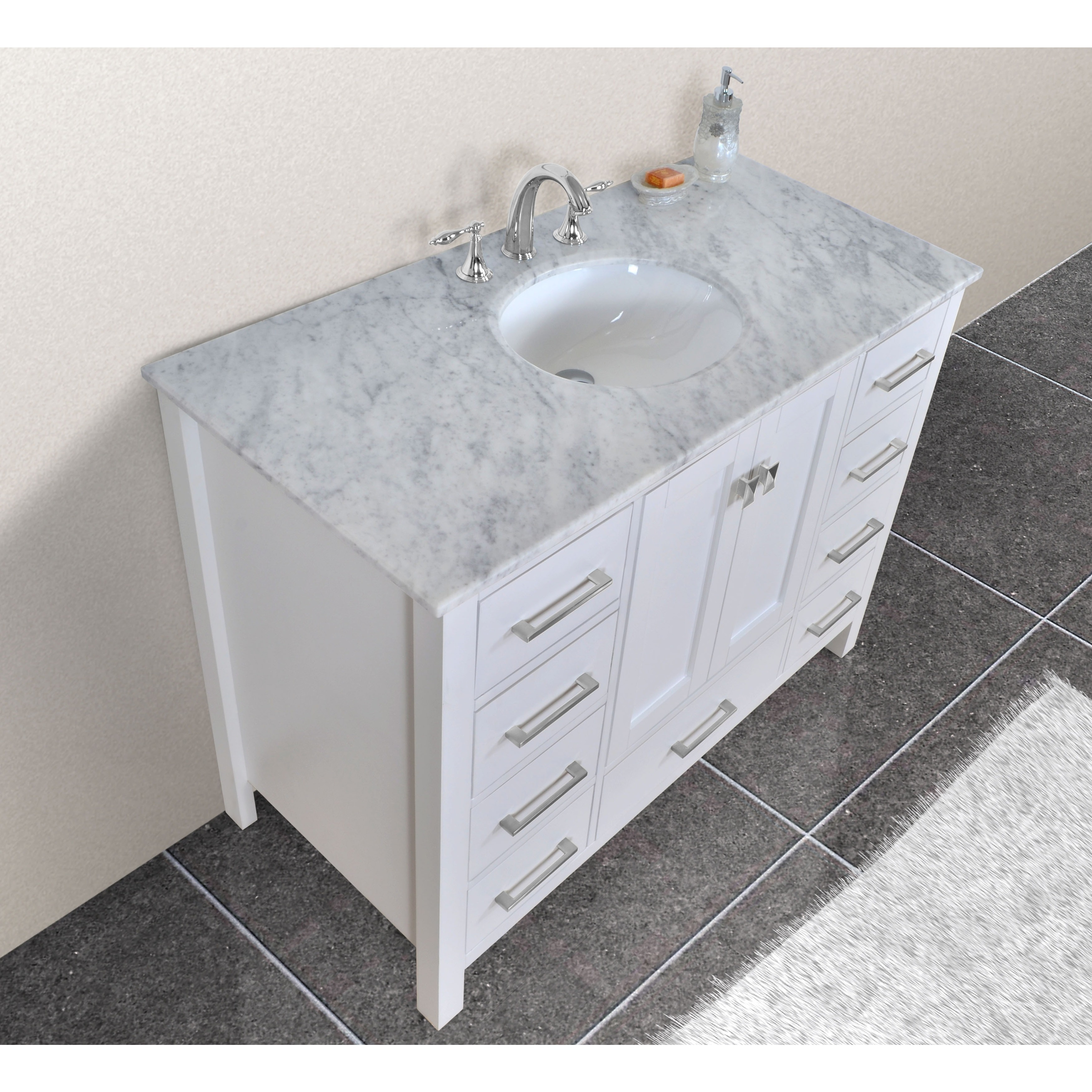 withrble with vanity single bathroom whitewhite size vanitysingle comely top white marble vessel modern of photos full vintage ideas sink