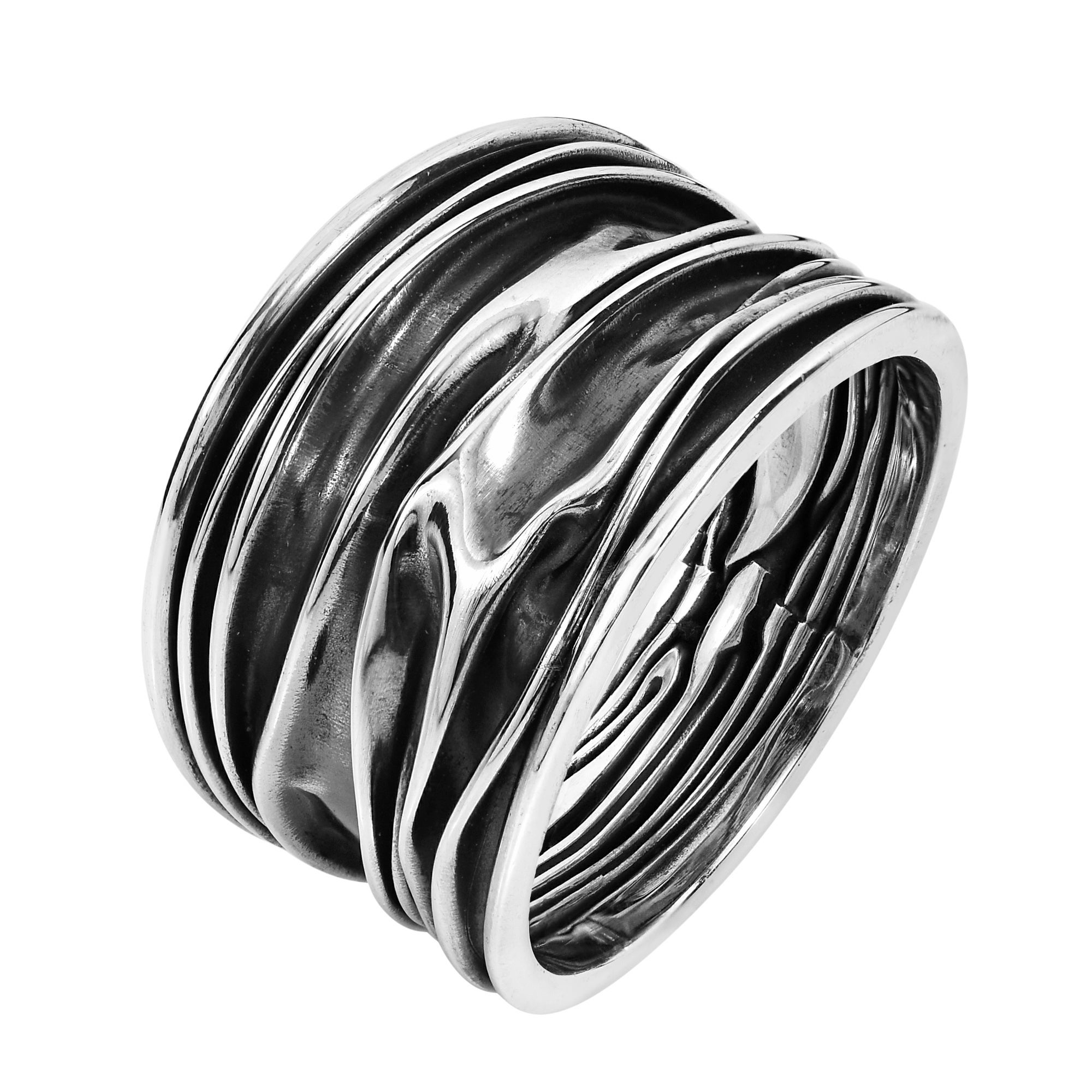 Shop Ocean Waves .925 Sterling Silver Handmade Ring (Thailand) - On ...