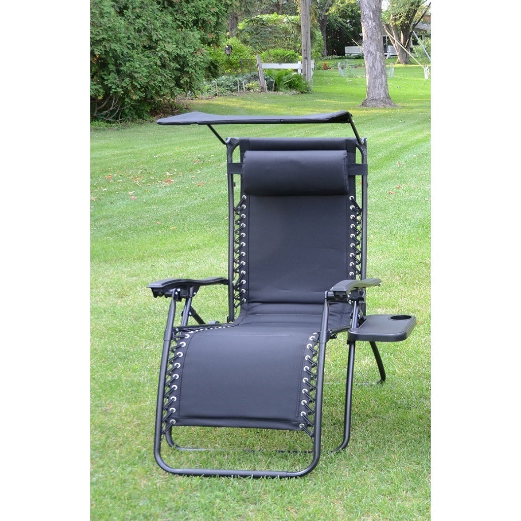 Styled Ping Deluxe Padded Zero Gravity Chair With Canopy And Tray Free Shipping Today 16441673