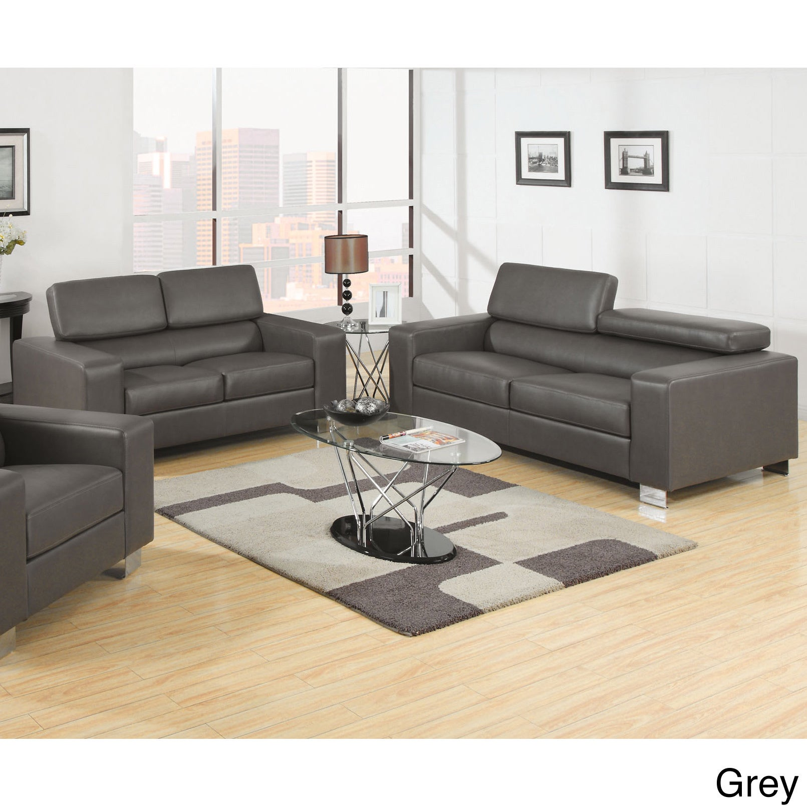leather p bonded brown set modern w and sofa image dark woptions loveseat options