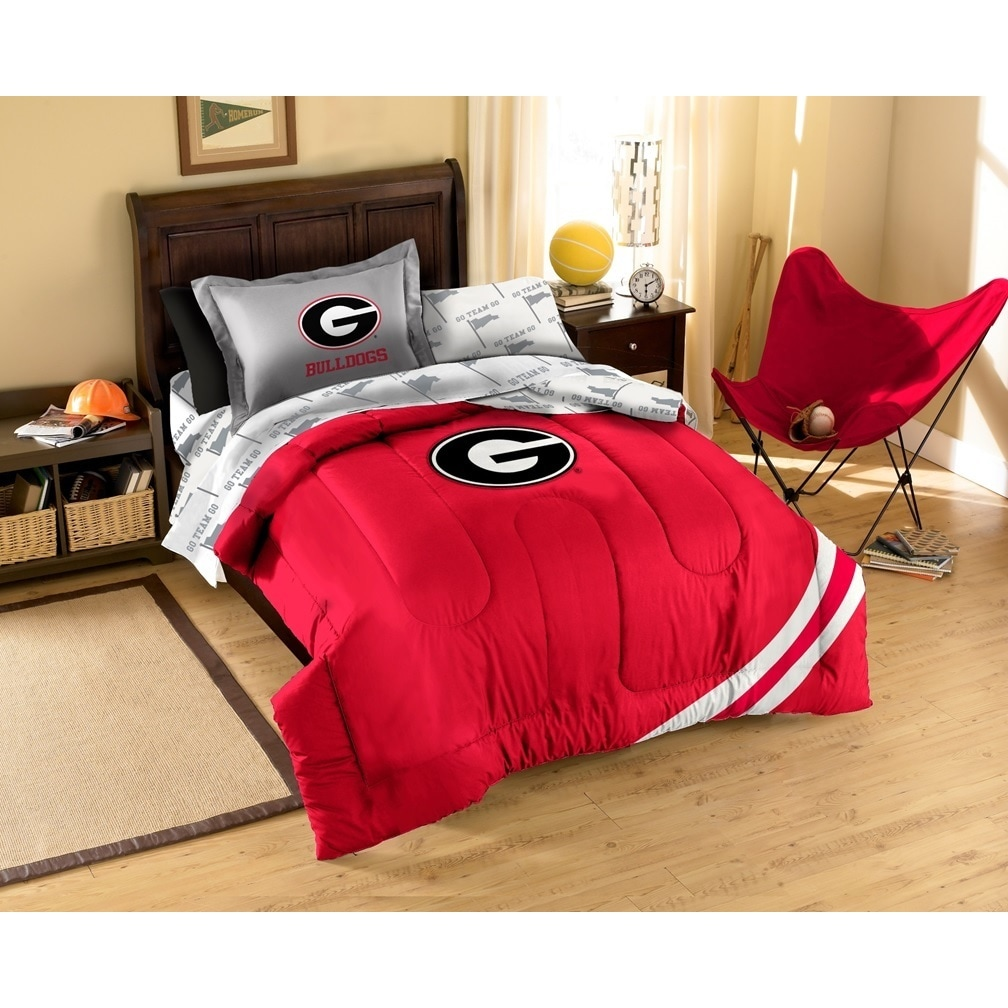 The Northwest Company University Of Georgia Bulldogs 7 Piece Bed In A Bag Set Free Shipping Today 9283513