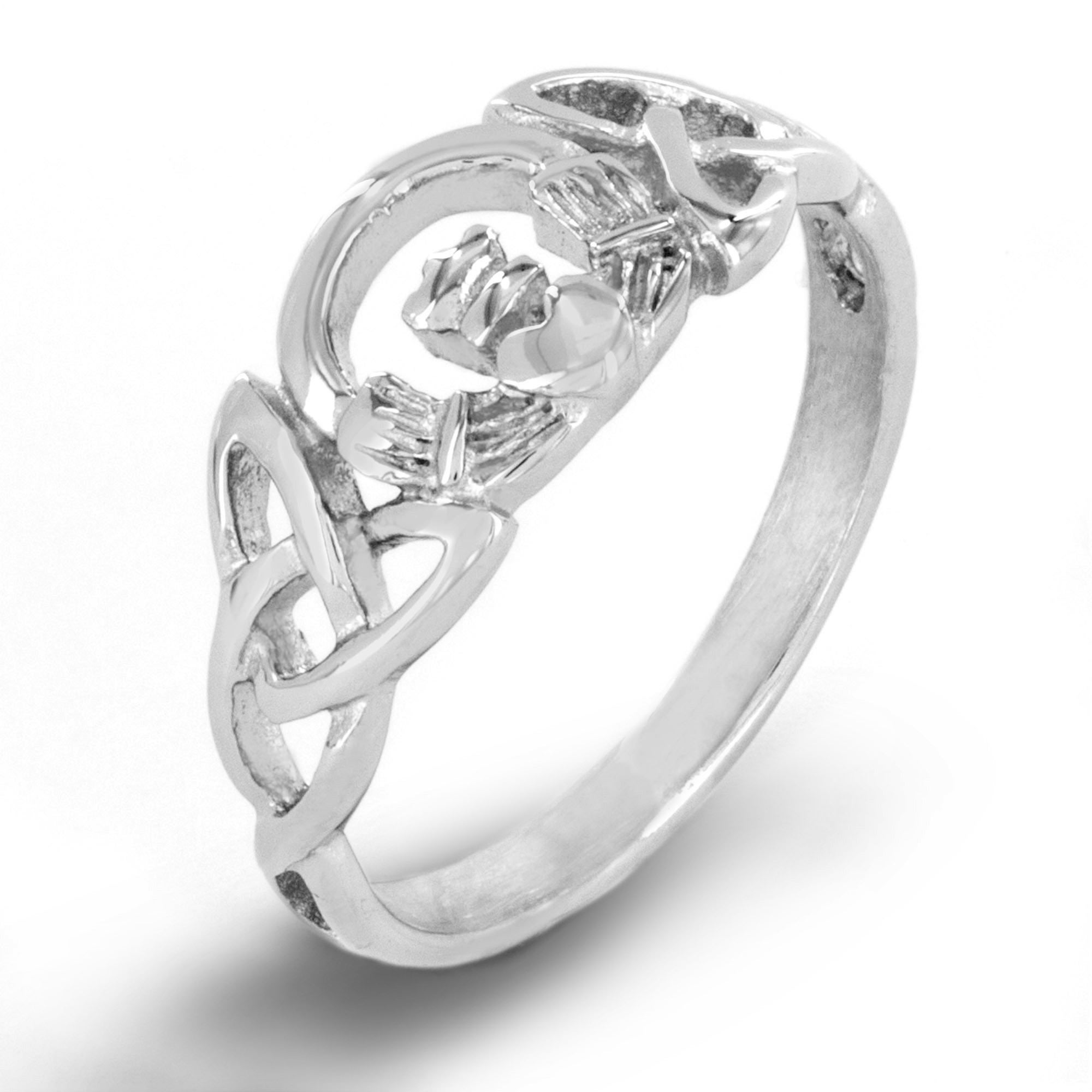 ri ring silver trinity products new celtic moon knot diamond