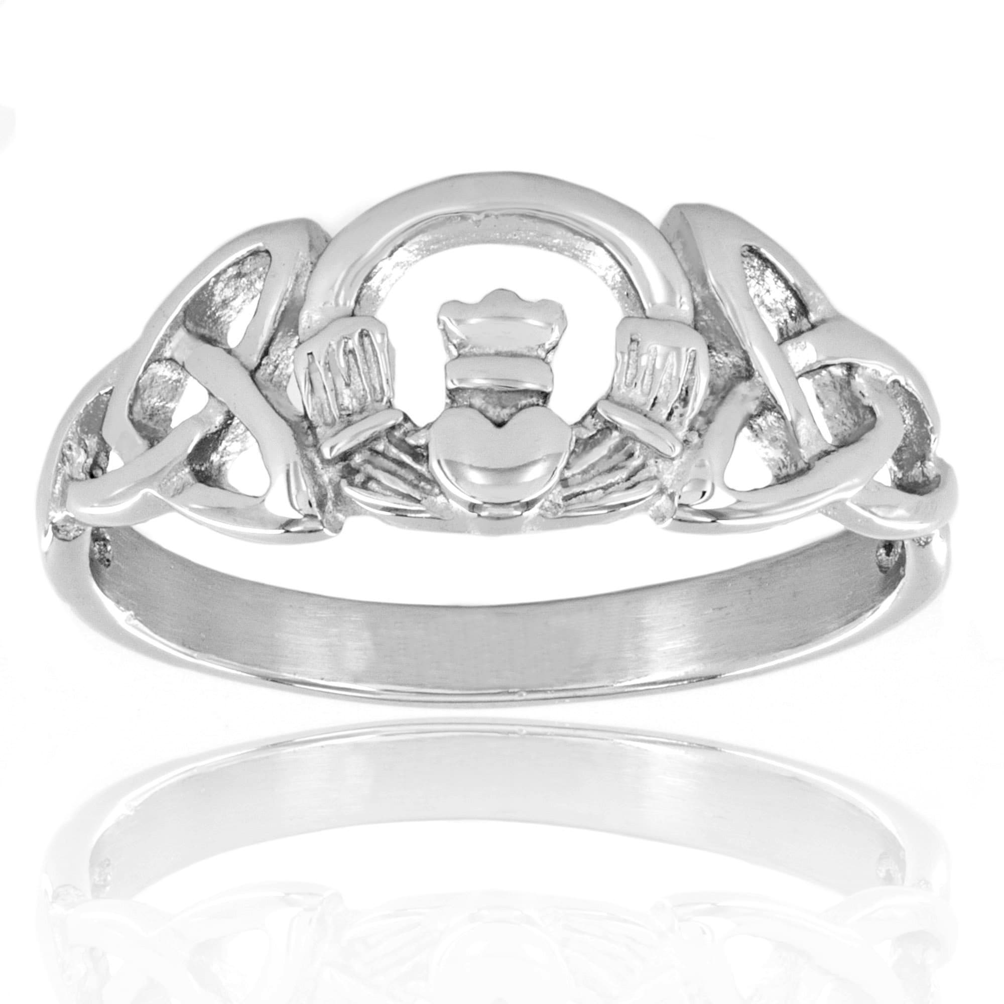 jewelry rings ring gold with collection livia silver engagement trinity diamond celtic white irish knots