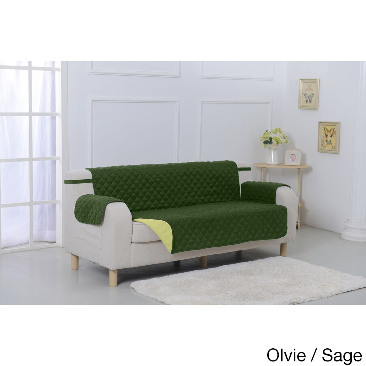 Suede Microfiber Reversible Quilted Sofa Furniture Protector - Free ...