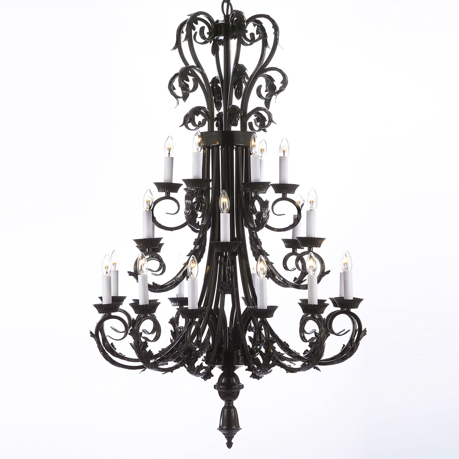Shop gallery 24 light wrought iron foyer entryway chandelier free shipping today overstock 9290392
