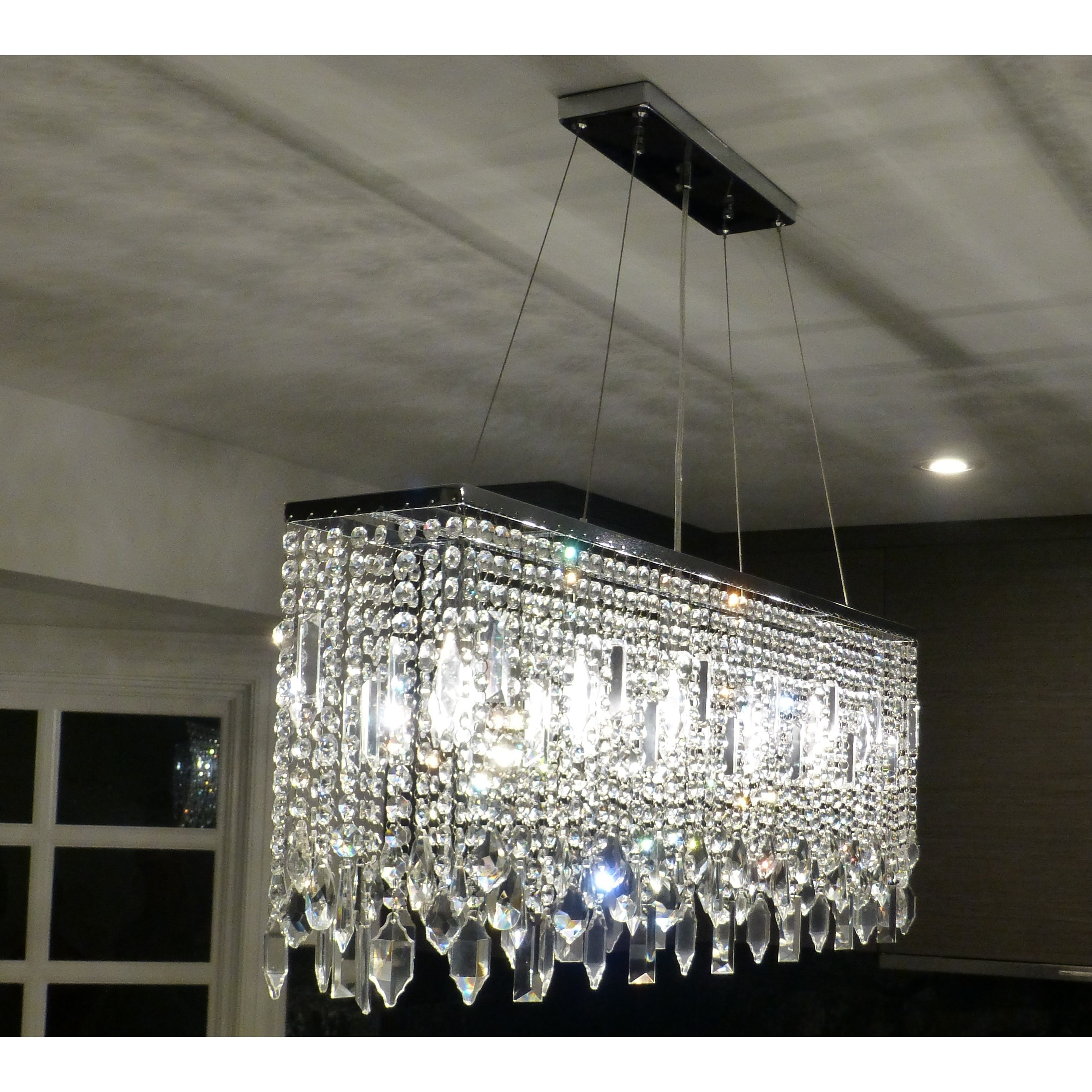 40 Inch Chrome Crystal Chandelier Free Shipping Today