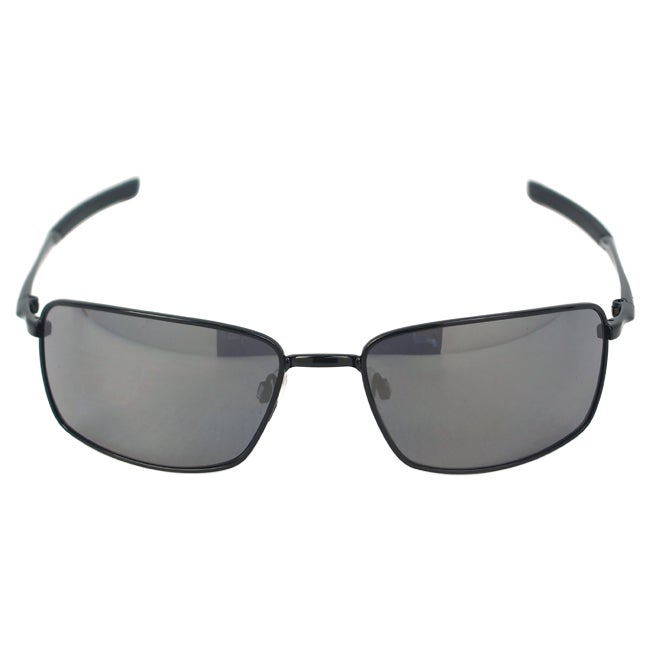 f684f2eabe Shop Oakley Men s  Square Wire OO4075-01  Polished Black  Black Iridium Square  Sunglasses - Free Shipping Today - Overstock.com - 9291042