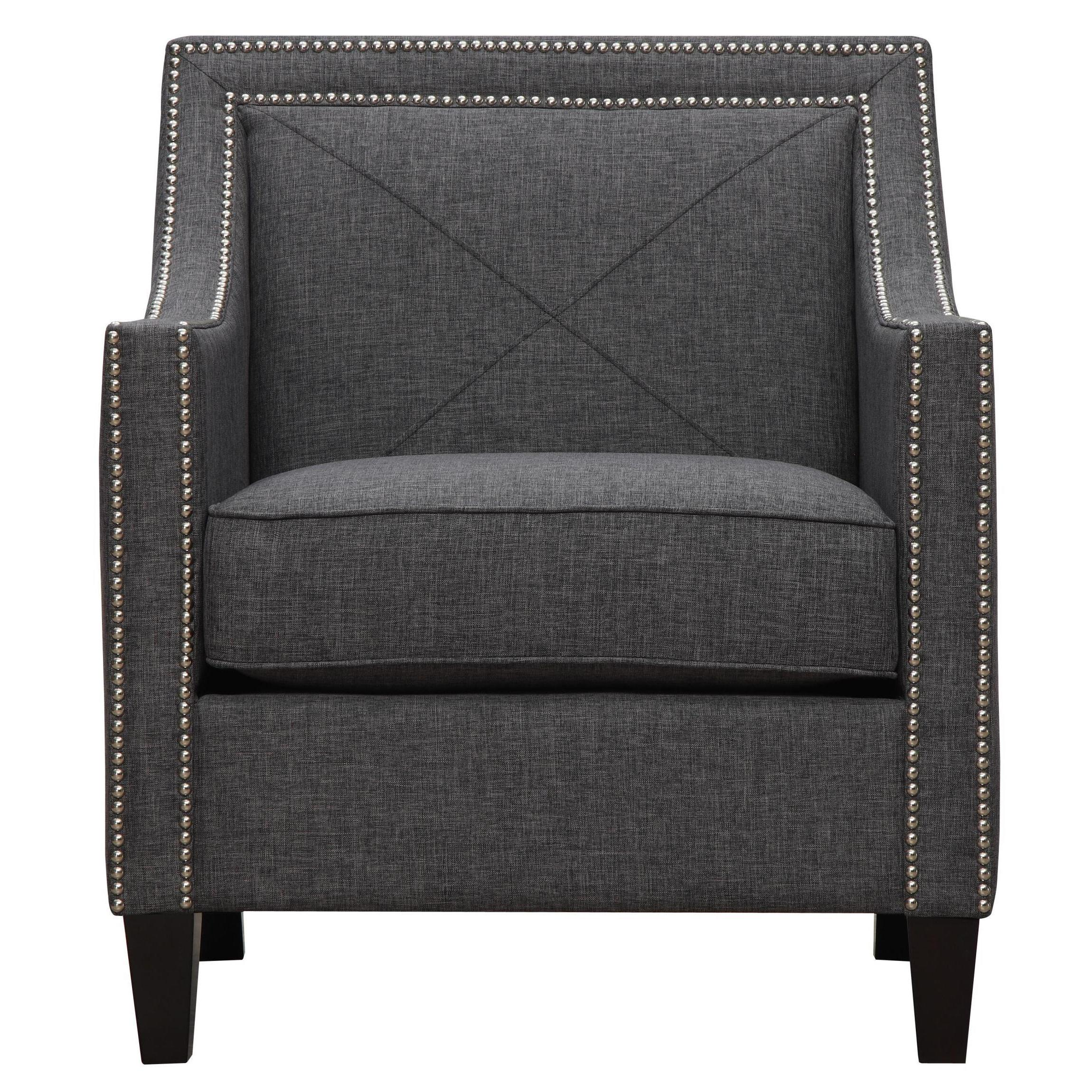 Gentil Shop Asheville Dark Grey Linen Chair   Free Shipping Today   Overstock.com    9291118