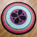 Magical Michayla Round Rug (3' x 3')