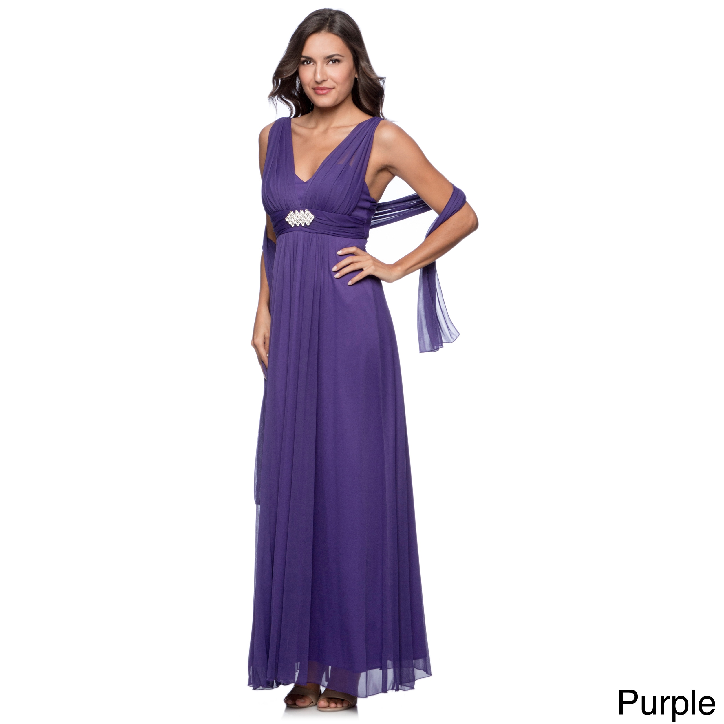 Shop DFI Women\'s Long Evening Gown - Free Shipping Today - Overstock ...