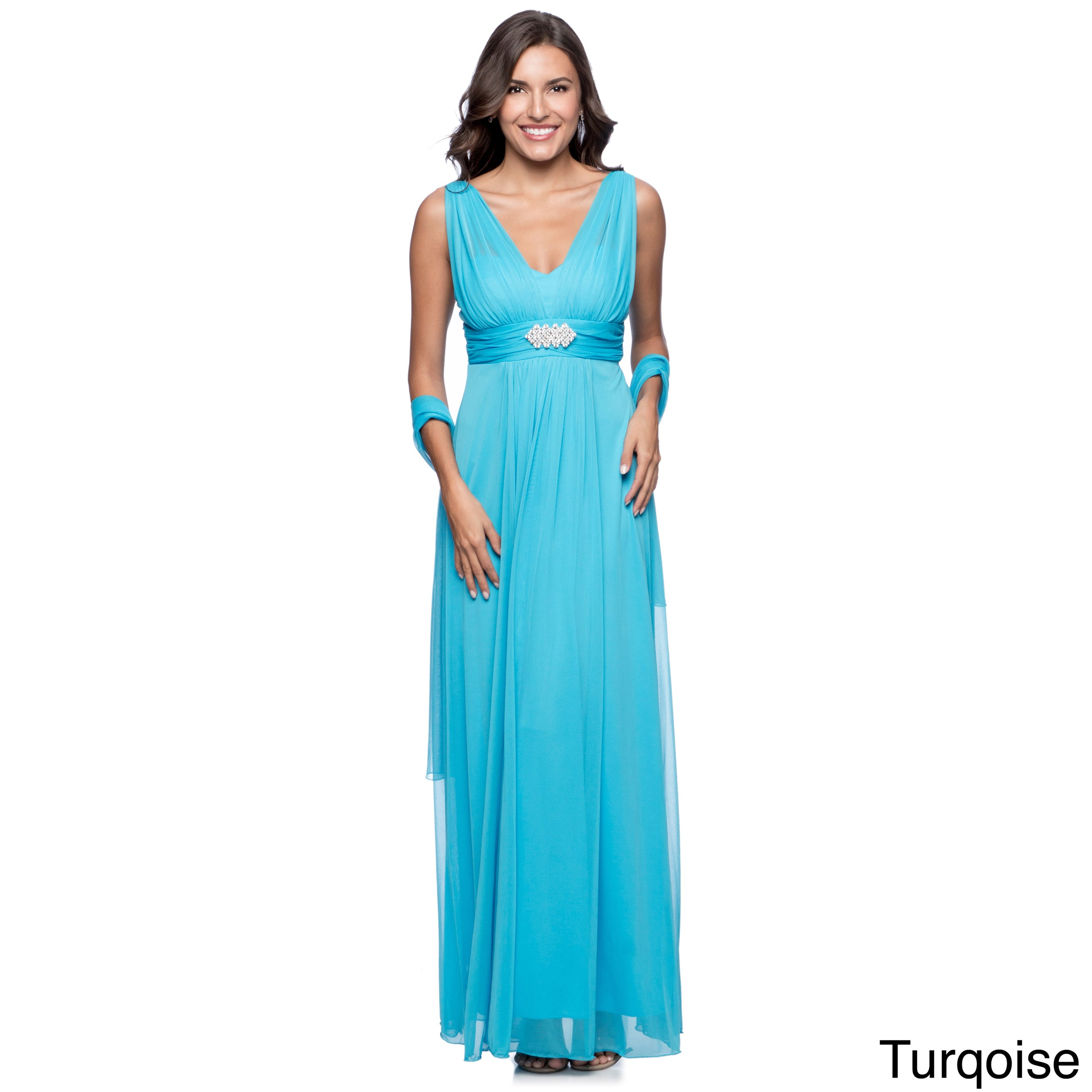 DFI Women\'s Long Evening Gown - Free Shipping Today - Overstock ...