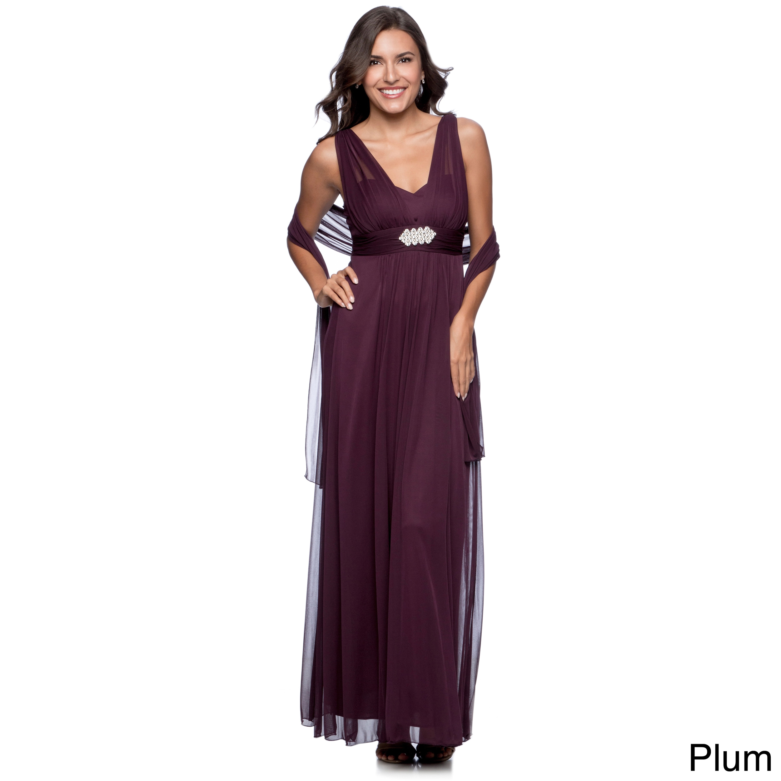 Shop DFI Women\'s Long Evening Gown - On Sale - Free Shipping Today ...