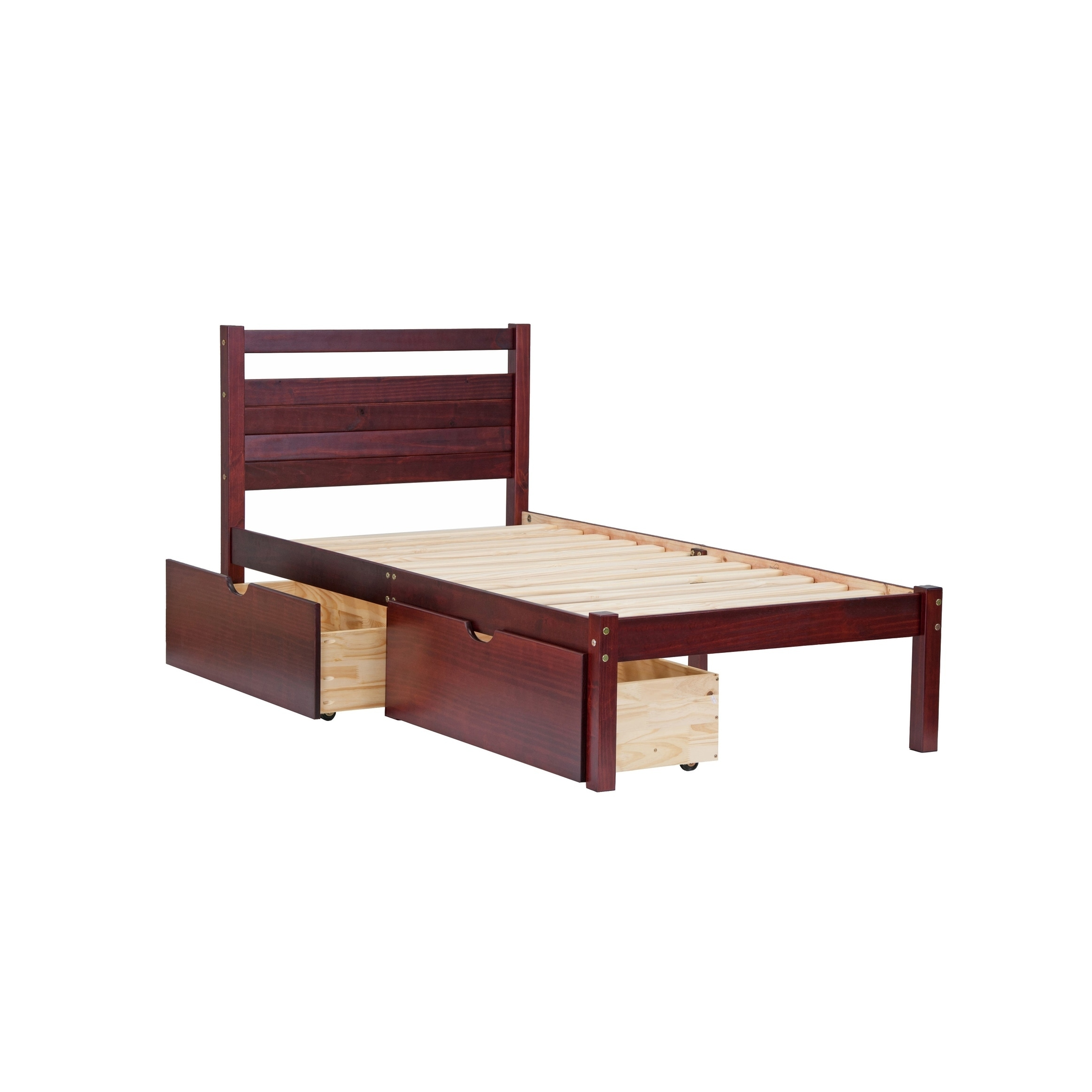 Shop Bronx Solid Pine Wood Twin Platform Bed By Palace Imports