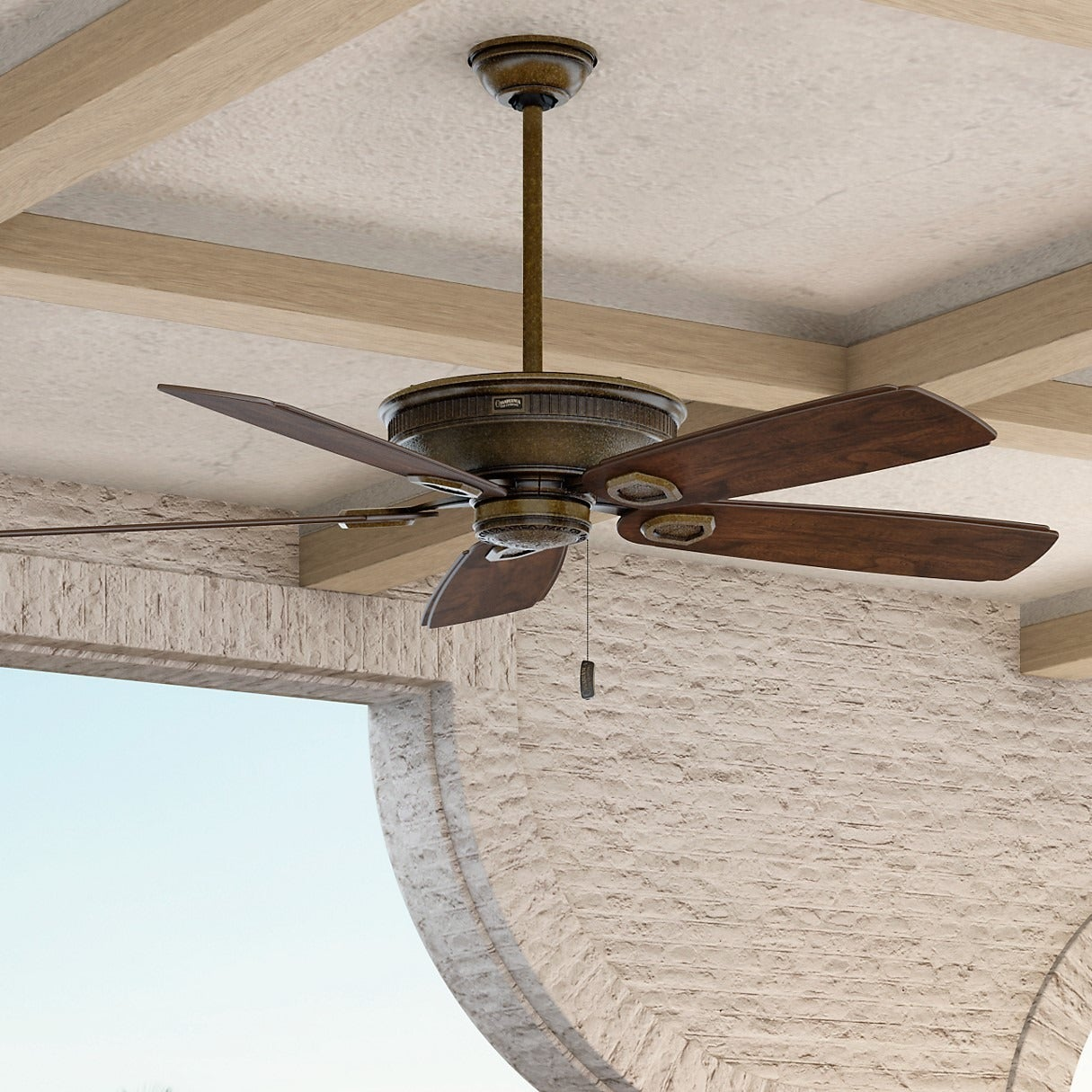 Shop Casablanca 60 Inch Heritage Fan With Adirondack Outdoor Carved