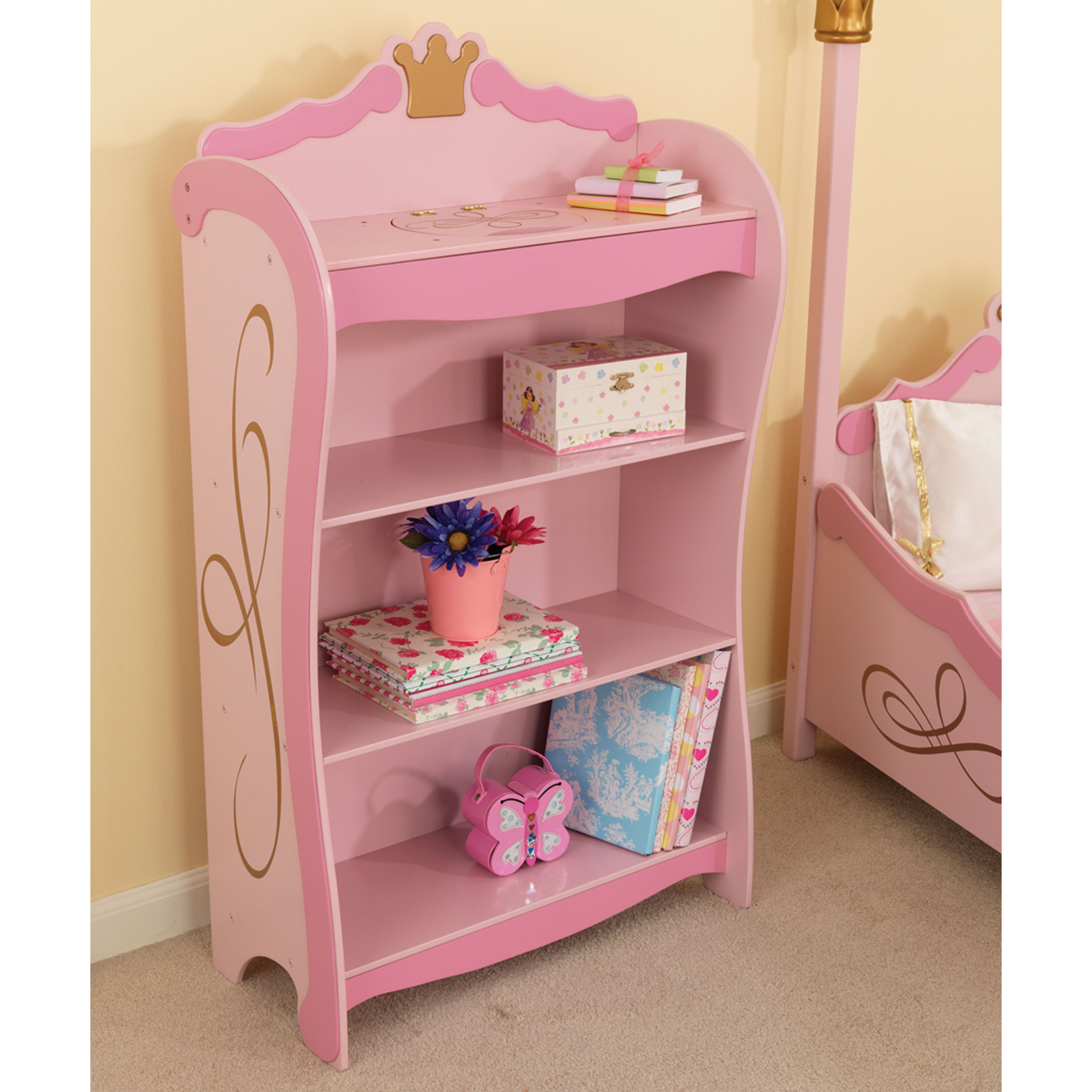 pink gltc of bookshelves bookcases attachment accent intended view for fairy photos storages storage bookcase twinkle furniture popular showing