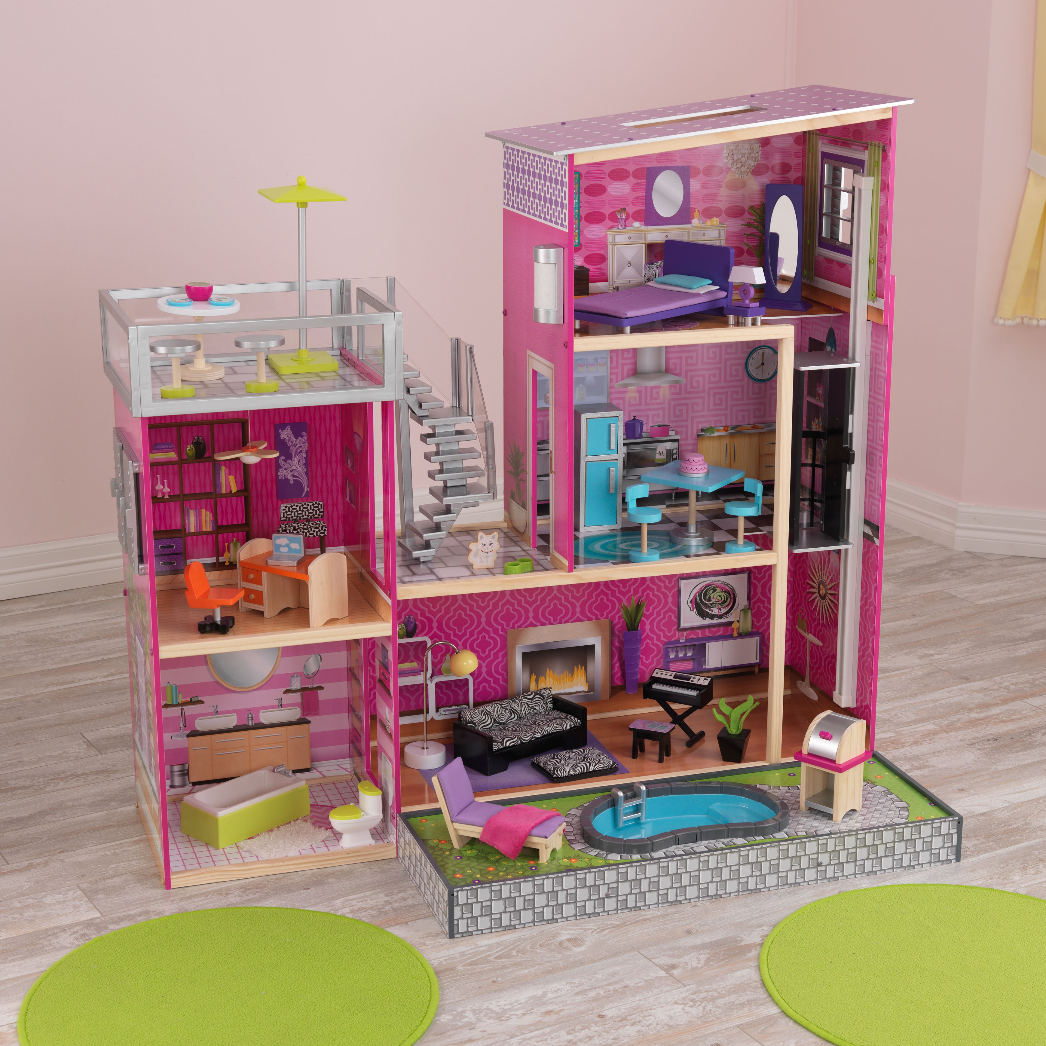 shop kidkraft uptown dollhouse free shipping today overstock com