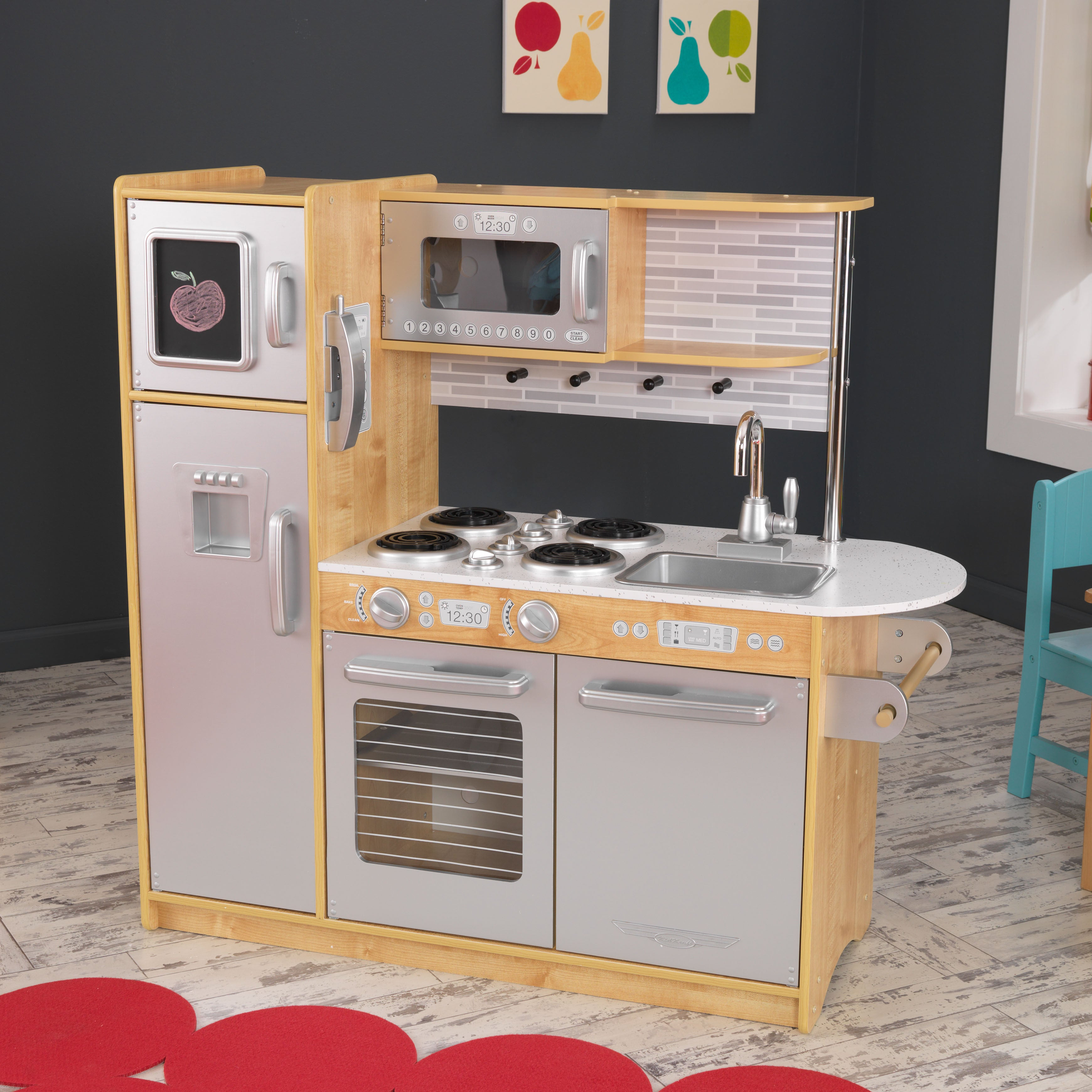 KidKraft Uptown Natural Kitchen - multi | Overstock.com Shopping - The Best  Deals on Kitchens & Play Food