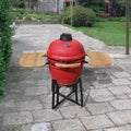 Corvus Vista 21-inch Kamado Style Red Charcoal BBQ Grill