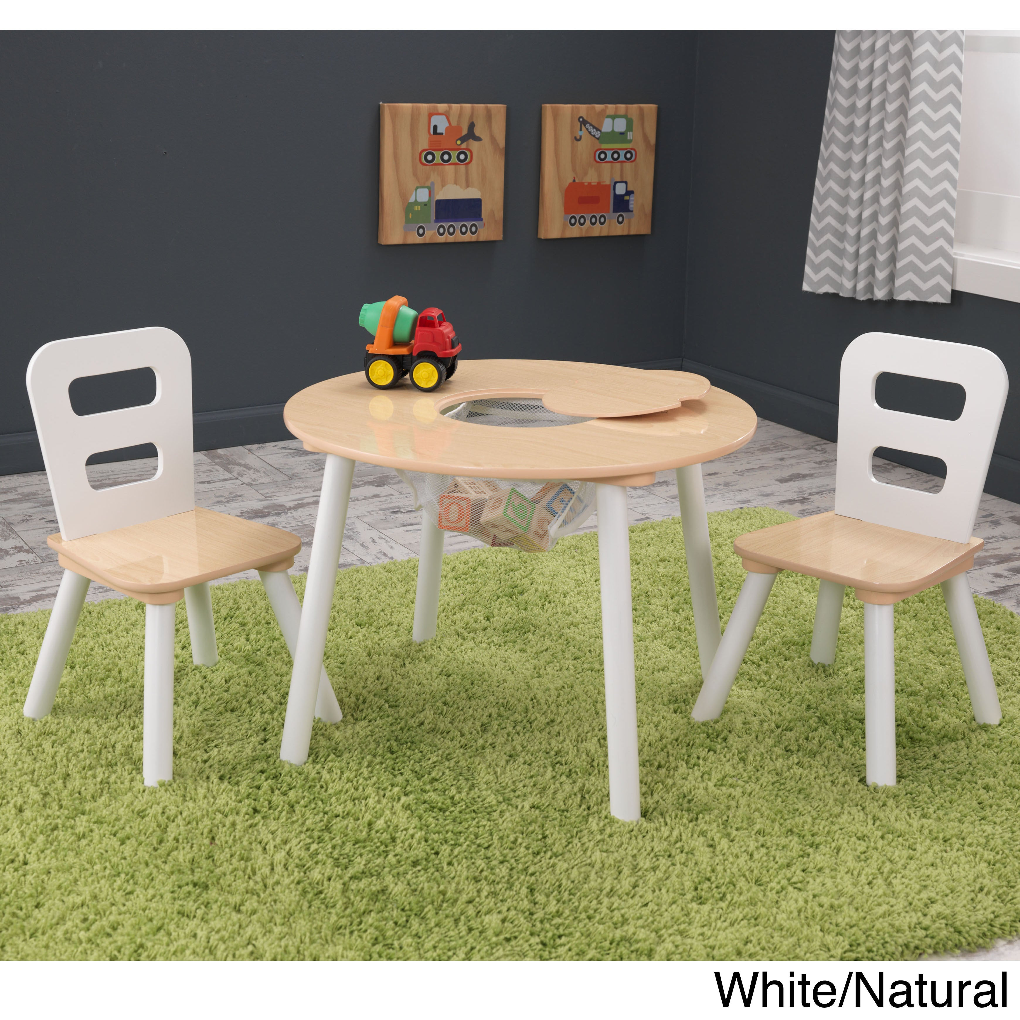 Shop KidKraft 3-piece Round Table and Chair Set - Free Shipping ...