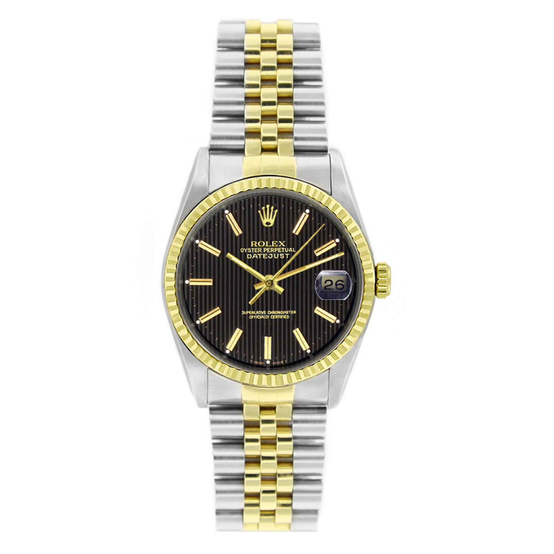 c181c6811f0 Shop Pre-owned Rolex Men s Datejust Two-tone 18k Gold and Stainless Steel  Watch - Free Shipping Today - Overstock - 9310133