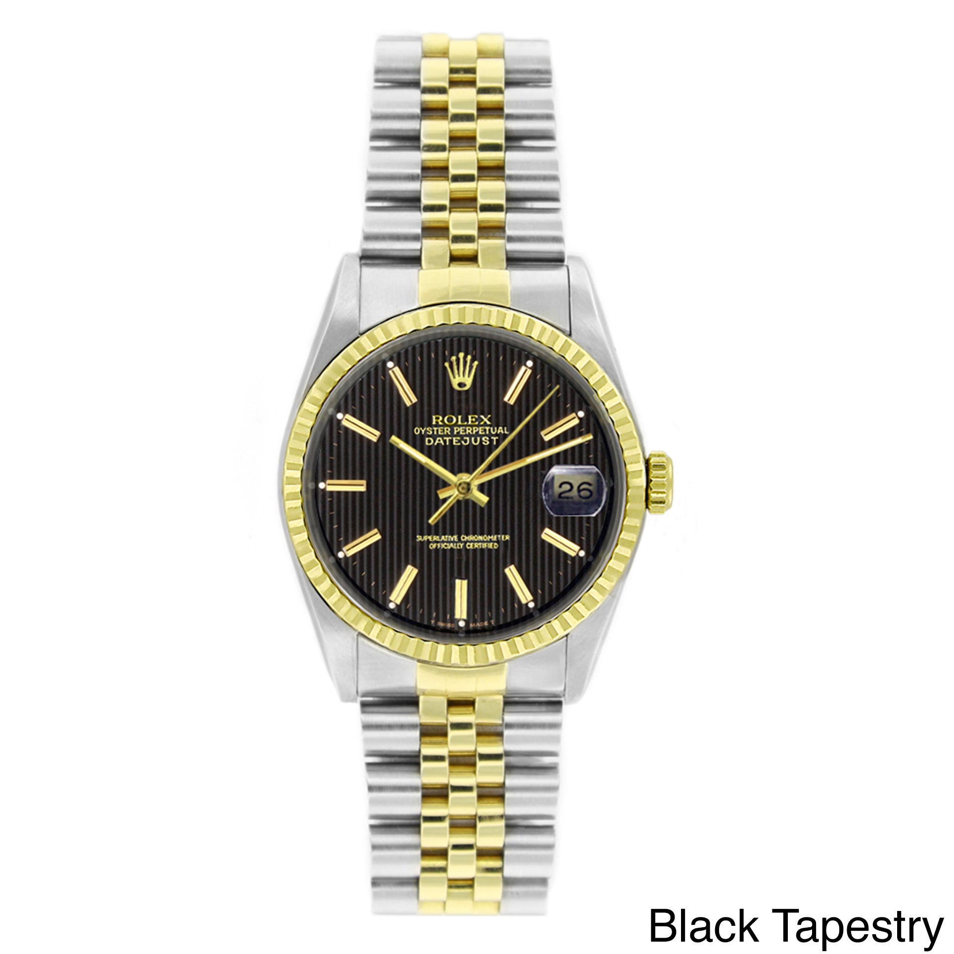 80609411a155c Pre-owned Rolex Men s Datejust Two-tone 18k Gold and Stainless Steel Watch