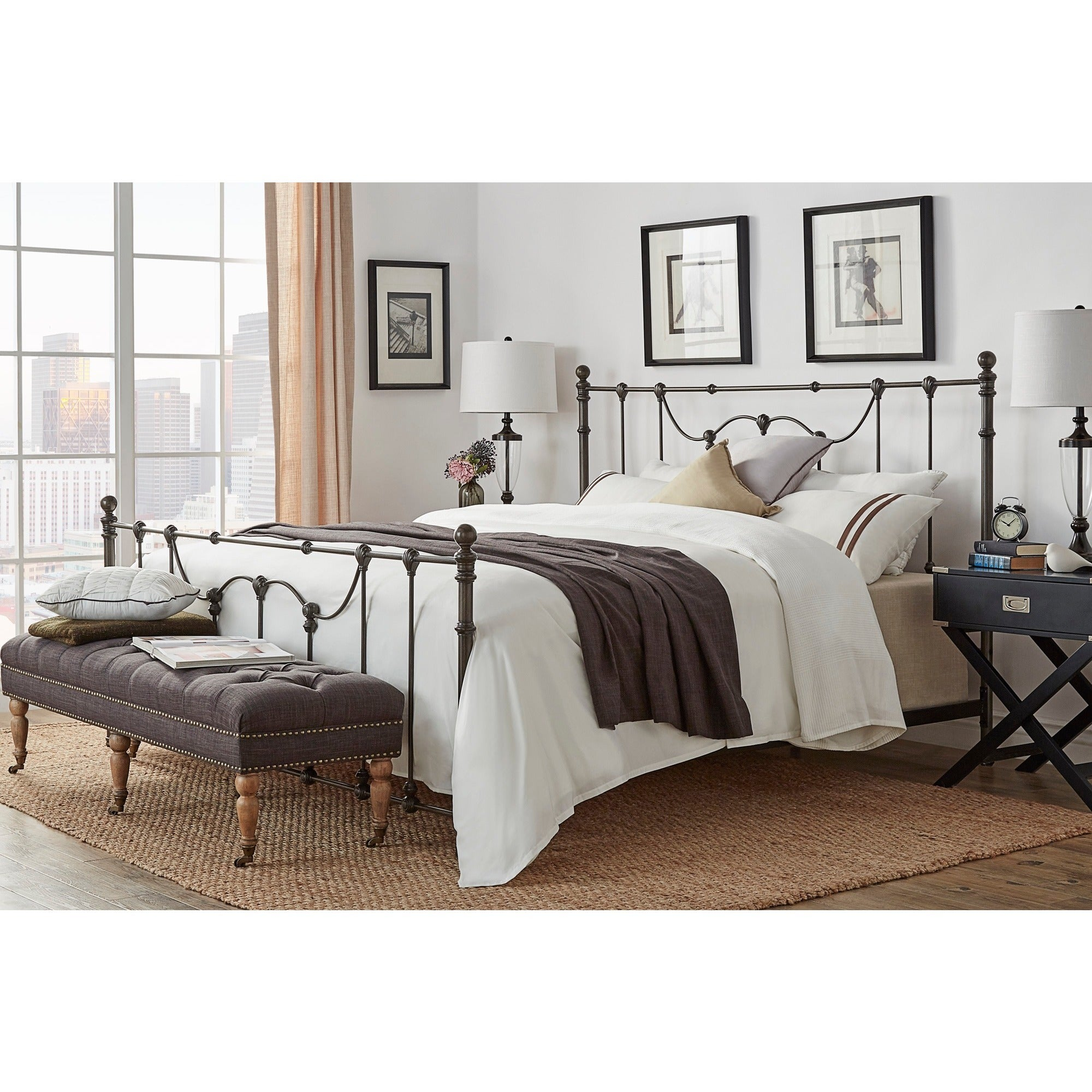 Shop Bellwood Victorian Iron Metal Bed By INSPIRE Q Classic