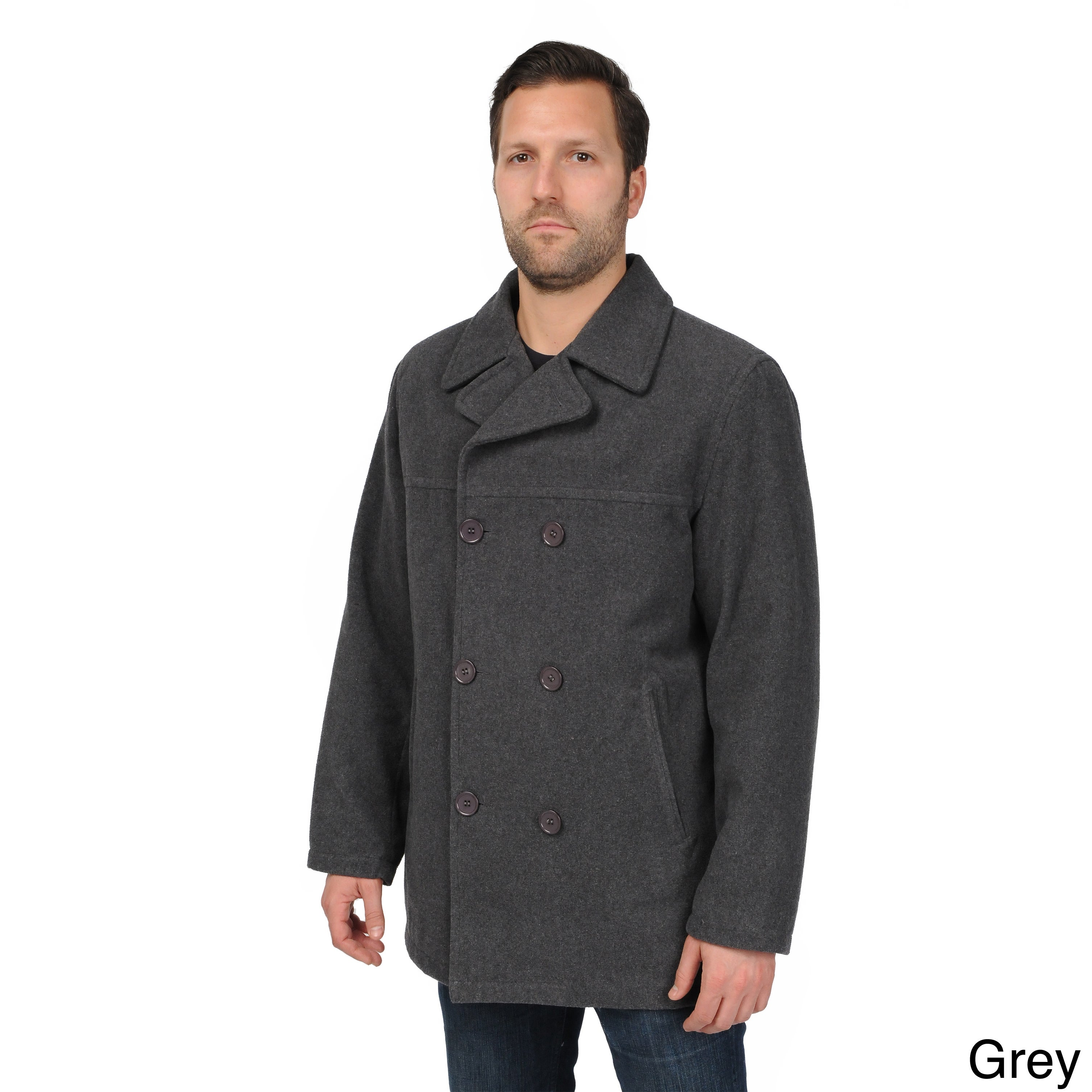 best value 100% high quality online shop EXcelled Men's Double Breasted Tall Peacoat