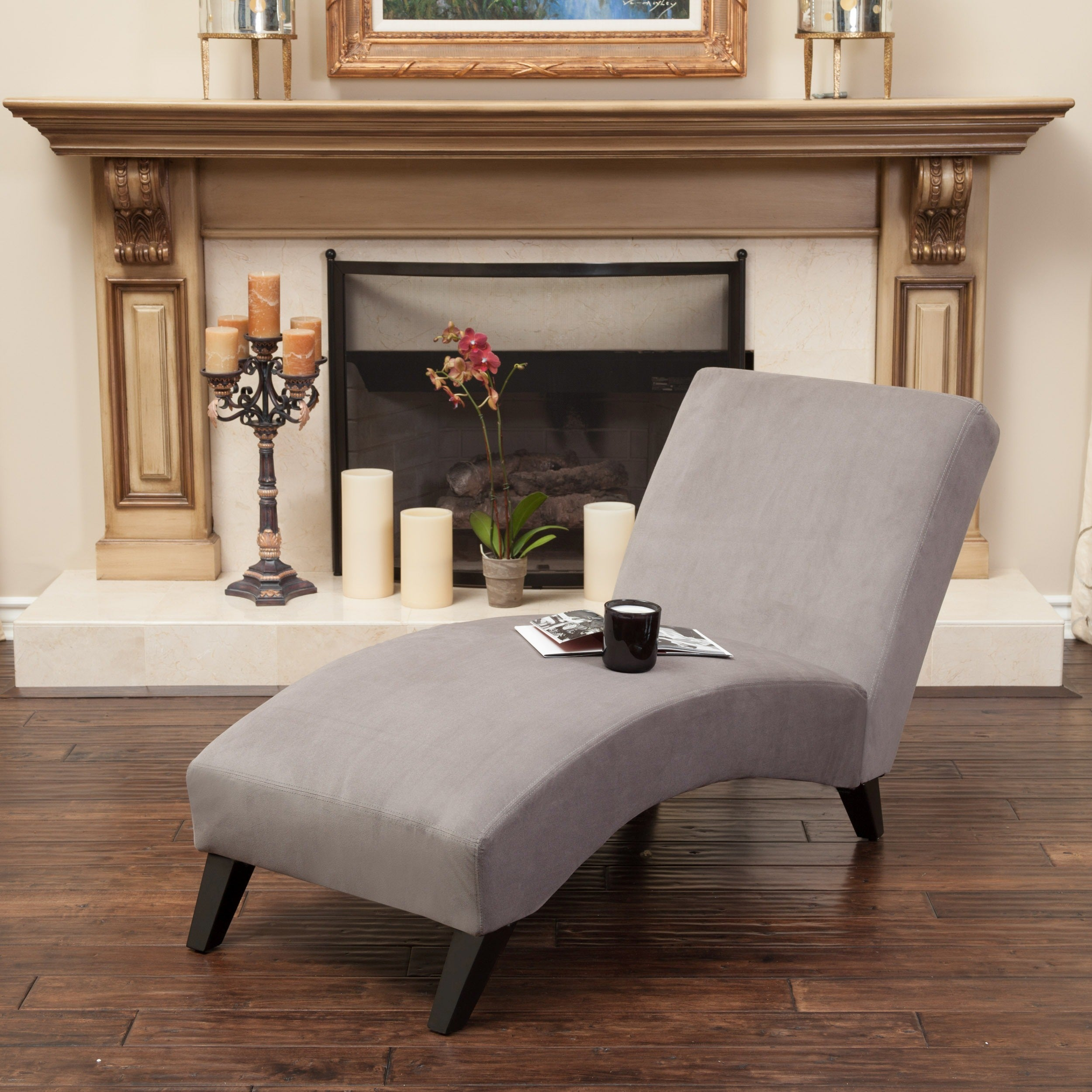 Shop Finlay Fabric Chaise Lounge by Christopher Knight Home - Free on