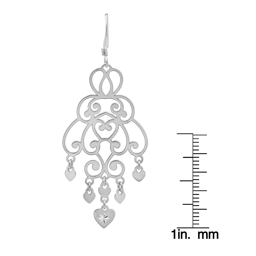 Goldplated sterling silver cut out heart charm chandelier dangle goldplated sterling silver cut out heart charm chandelier dangle earrings free shipping on orders over 45 overstock 16471755 aloadofball Image collections