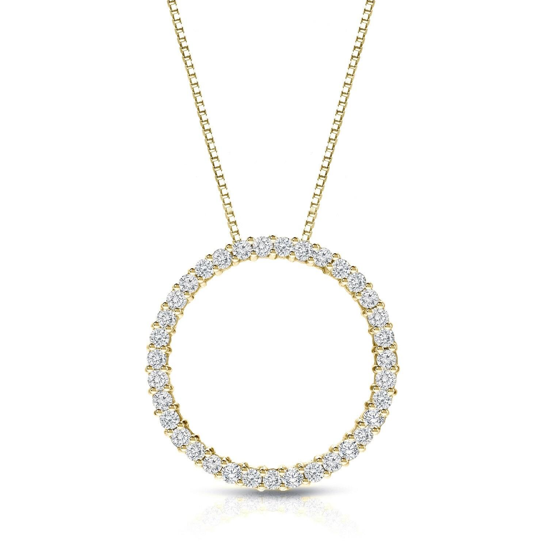 Shop auriya 14k yellow gold diamond circle necklace on sale free shop auriya 14k yellow gold diamond circle necklace on sale free shipping today overstock 9311262 aloadofball Images