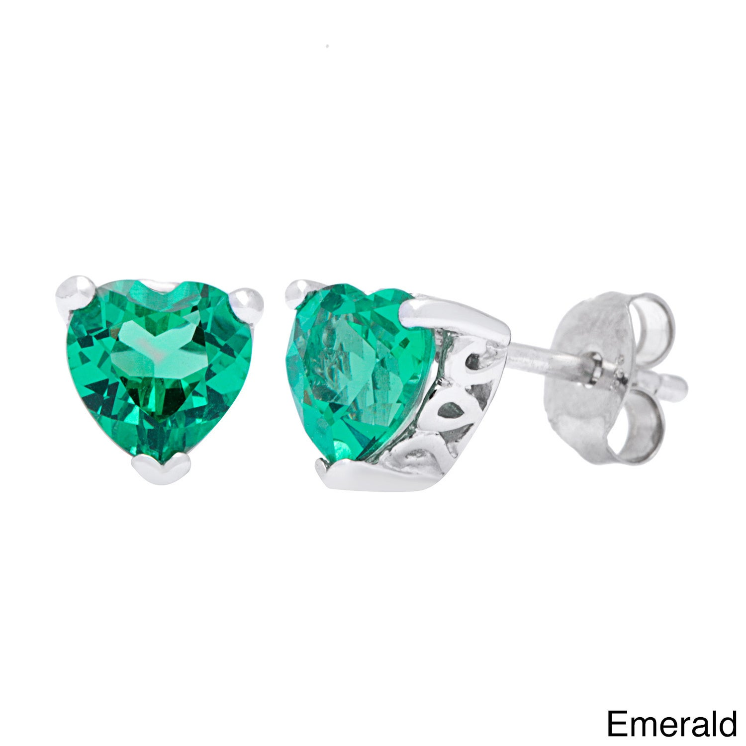Oravo Sterling Silver Heart-cut Gemstone Earrings - Free Shipping On Orders  Over $45 - Overstock.com - 16474186