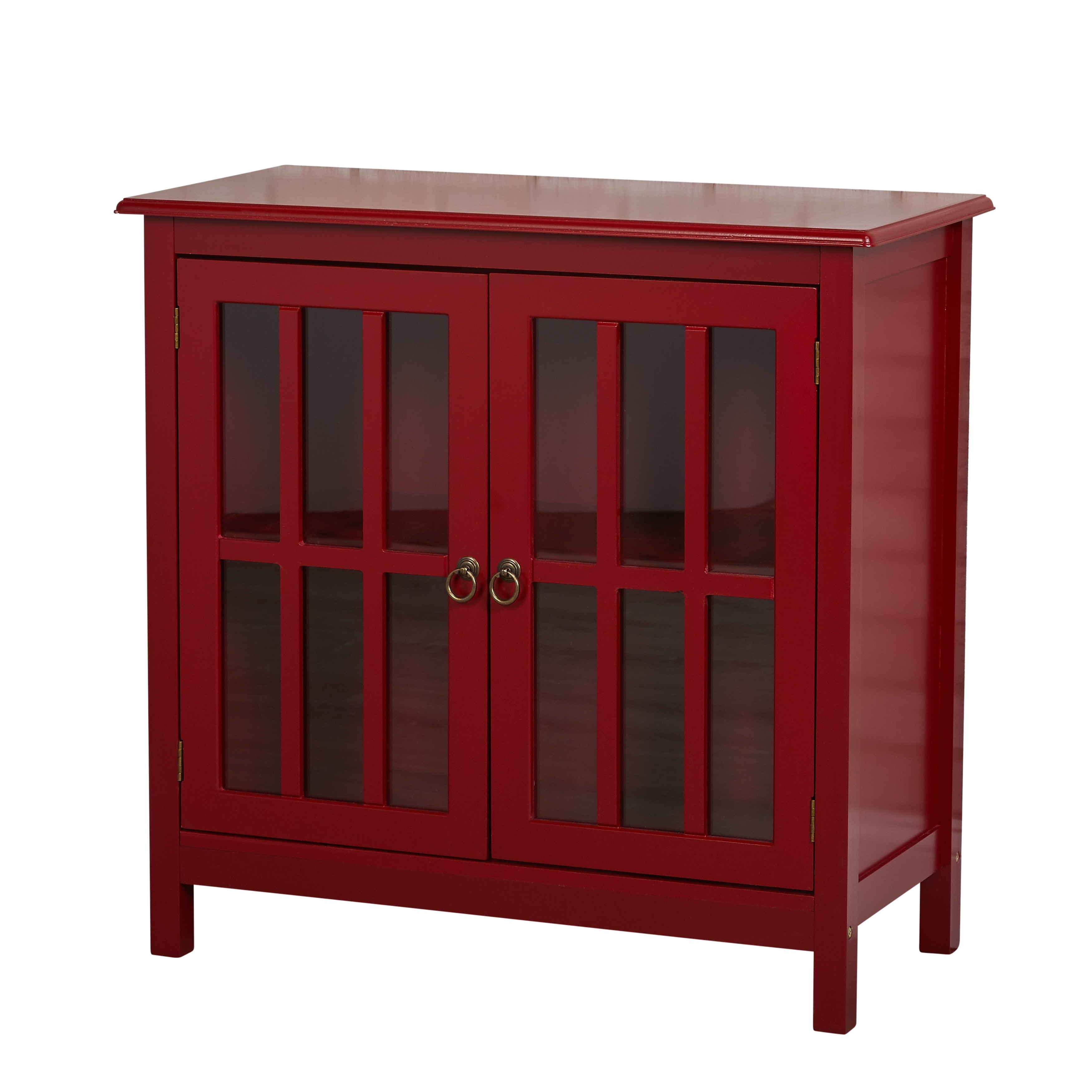Shop Simple Living Portland Glass Door Cabinet - N/A - Free Shipping ...