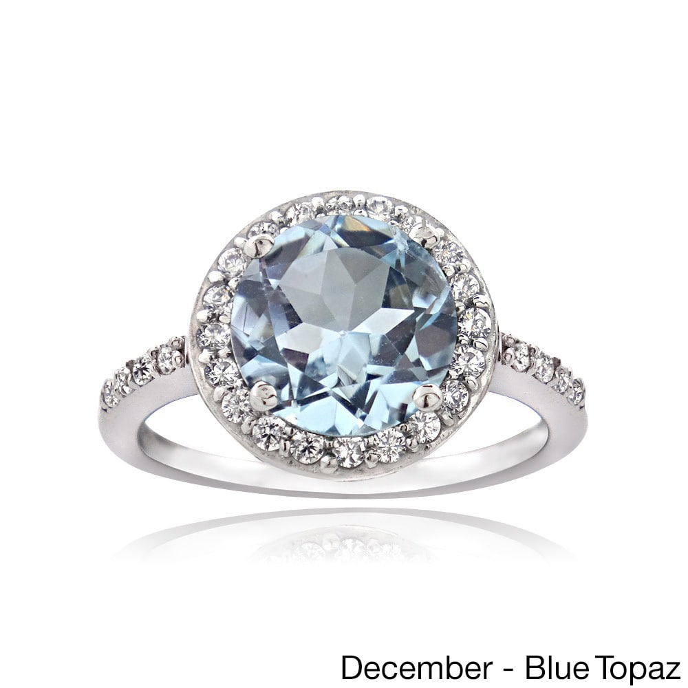 trillion thegoldsmith silver set bezel wedding sterling rings december with products dots ring blue birthstone