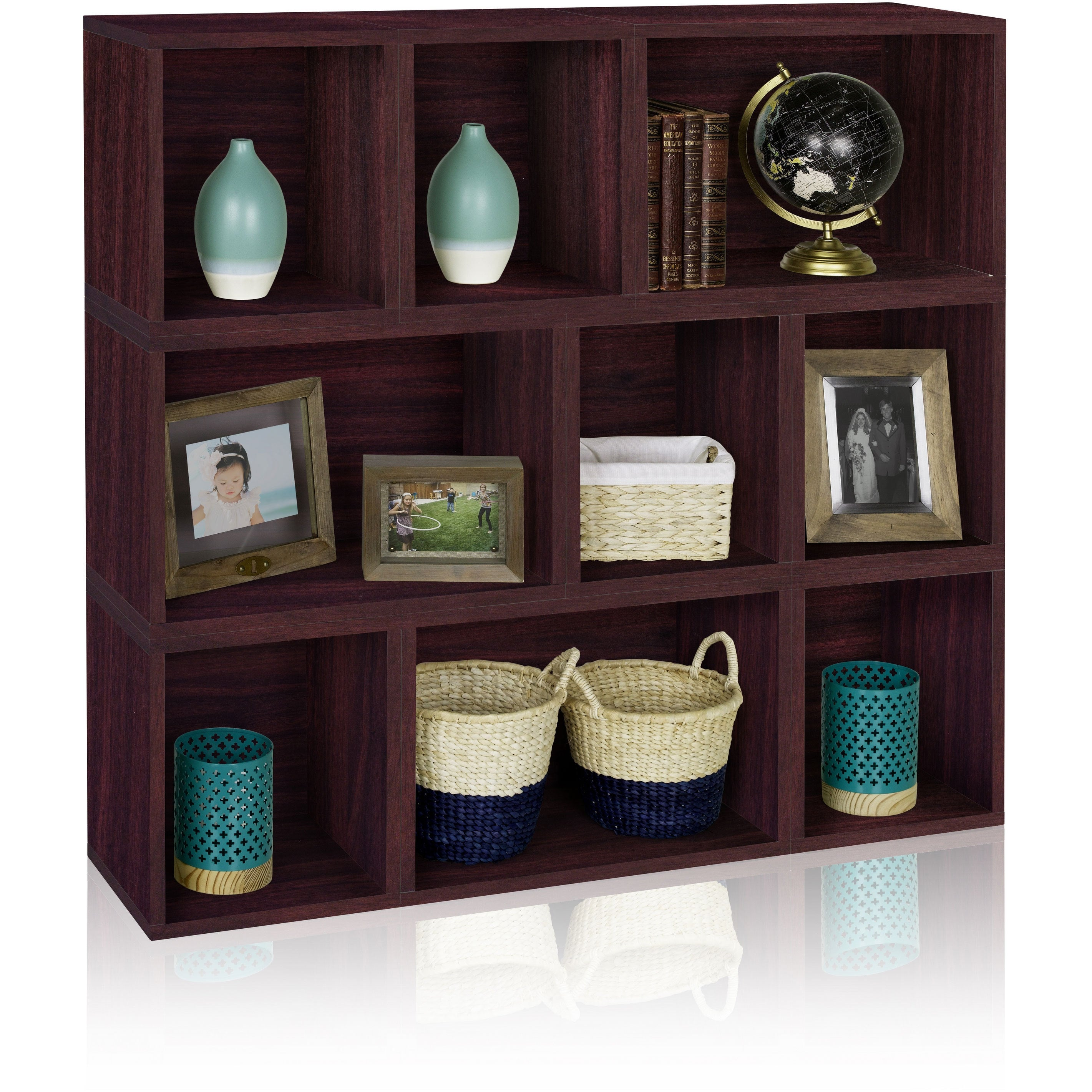 Shop oxford eco stackable modular storage cube and rectangle system by way basics lifetime guarantee free shipping today overstock com 9318318