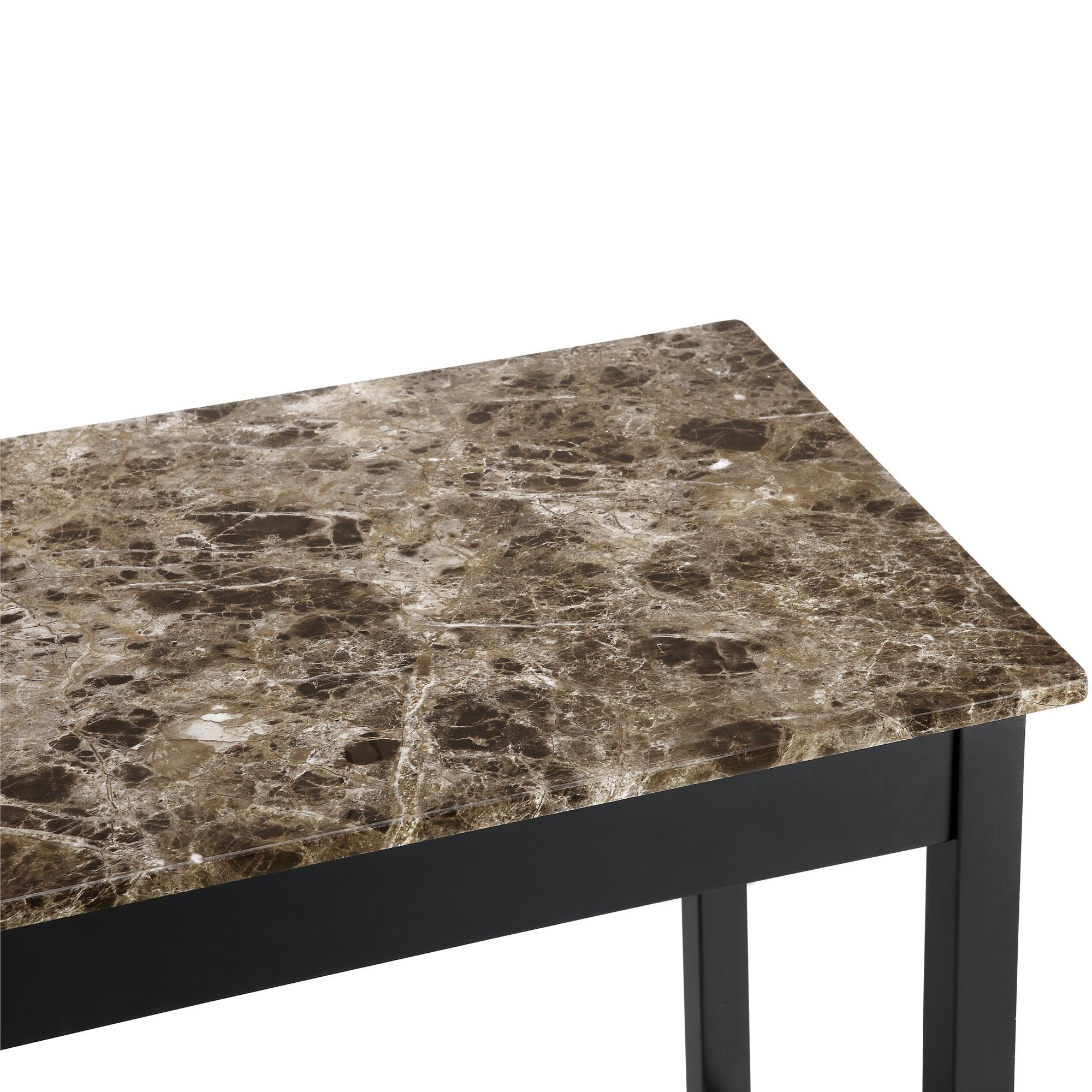 Shop Dorel Living Devyn 3 Piece Faux Marble Pub Dining Set   On Sale   Free  Shipping Today   Overstock.com   20186885