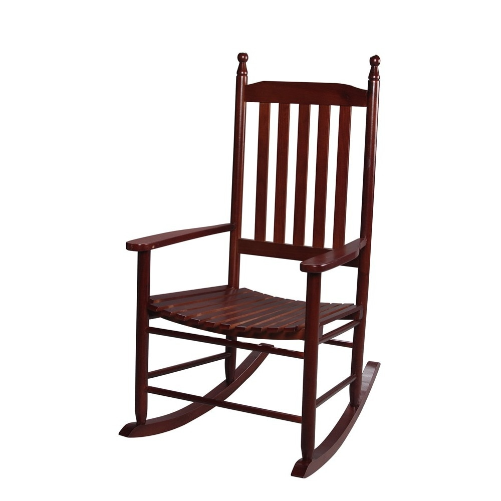 Gift Mark Home Adult Resting Tall Back Rocking Chair   Free Shipping Today    Overstock   16479362