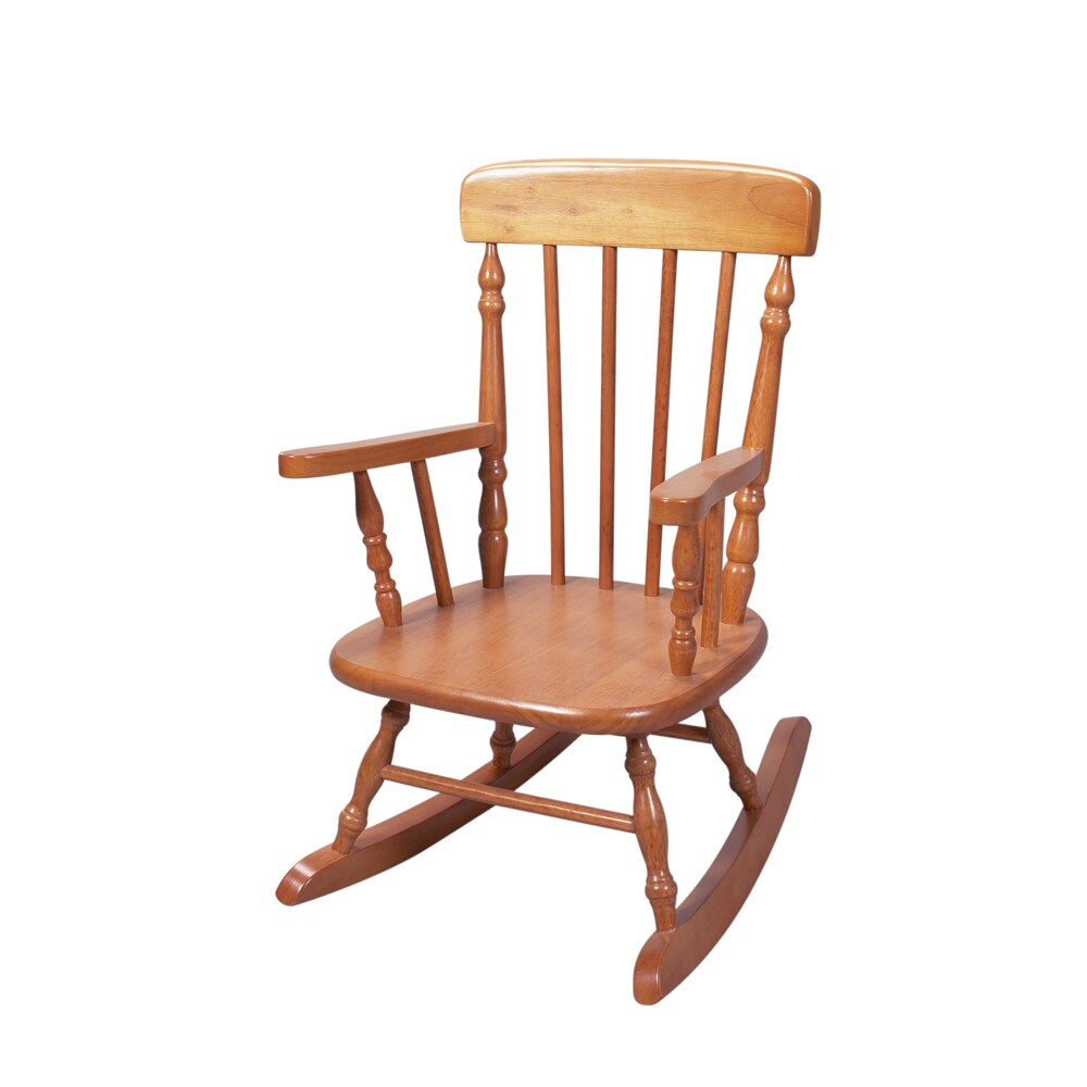 Gift Mark Home Deluxe Child Size Honey Spindle Rocking Chair   Free  Shipping Today   Overstock   16479540