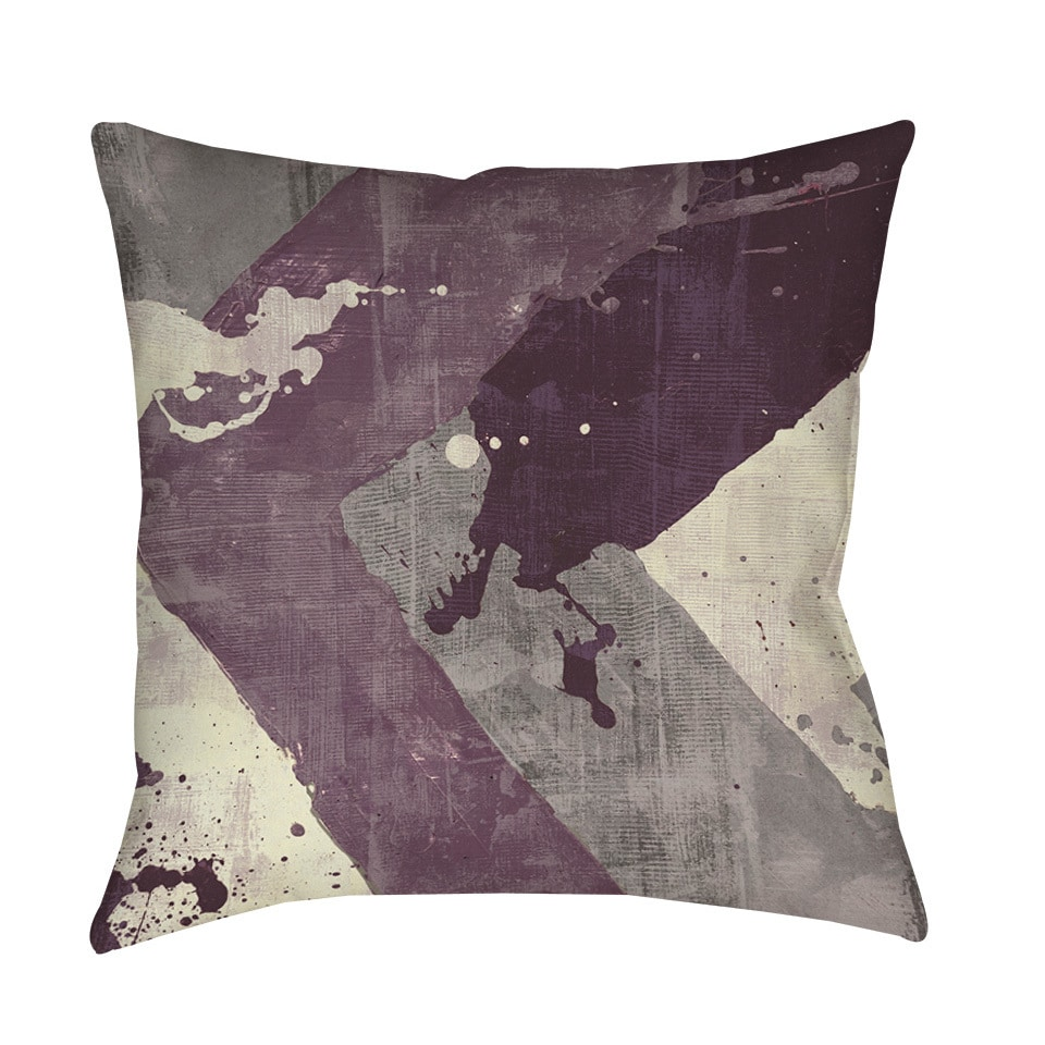 Splatter No I Purple Indoor/ Outdoor Pillow - Free Shipping On ...