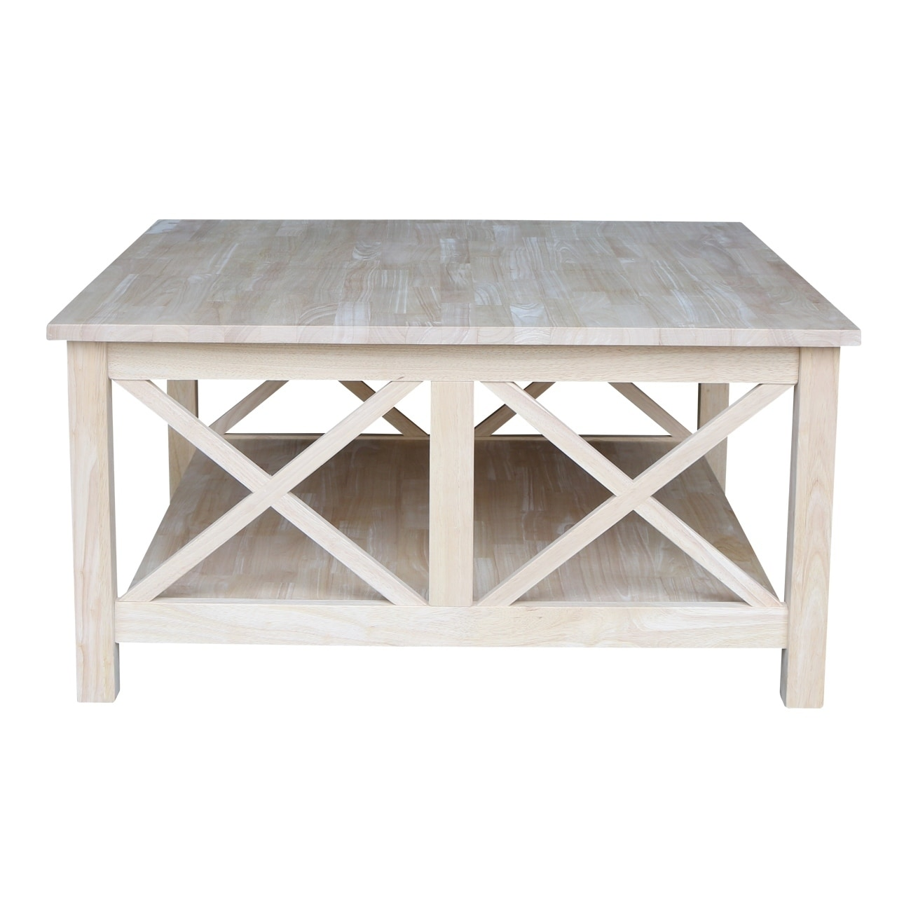 Shop U0027Hamptonu0027 Unfinished Solid Parawood Square Coffee Table   Free  Shipping Today   Overstock.com   9330439