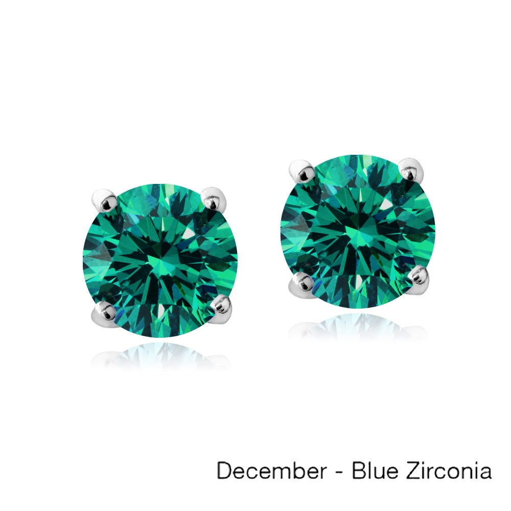 bezel stud bodycandy december earrings birthstone products