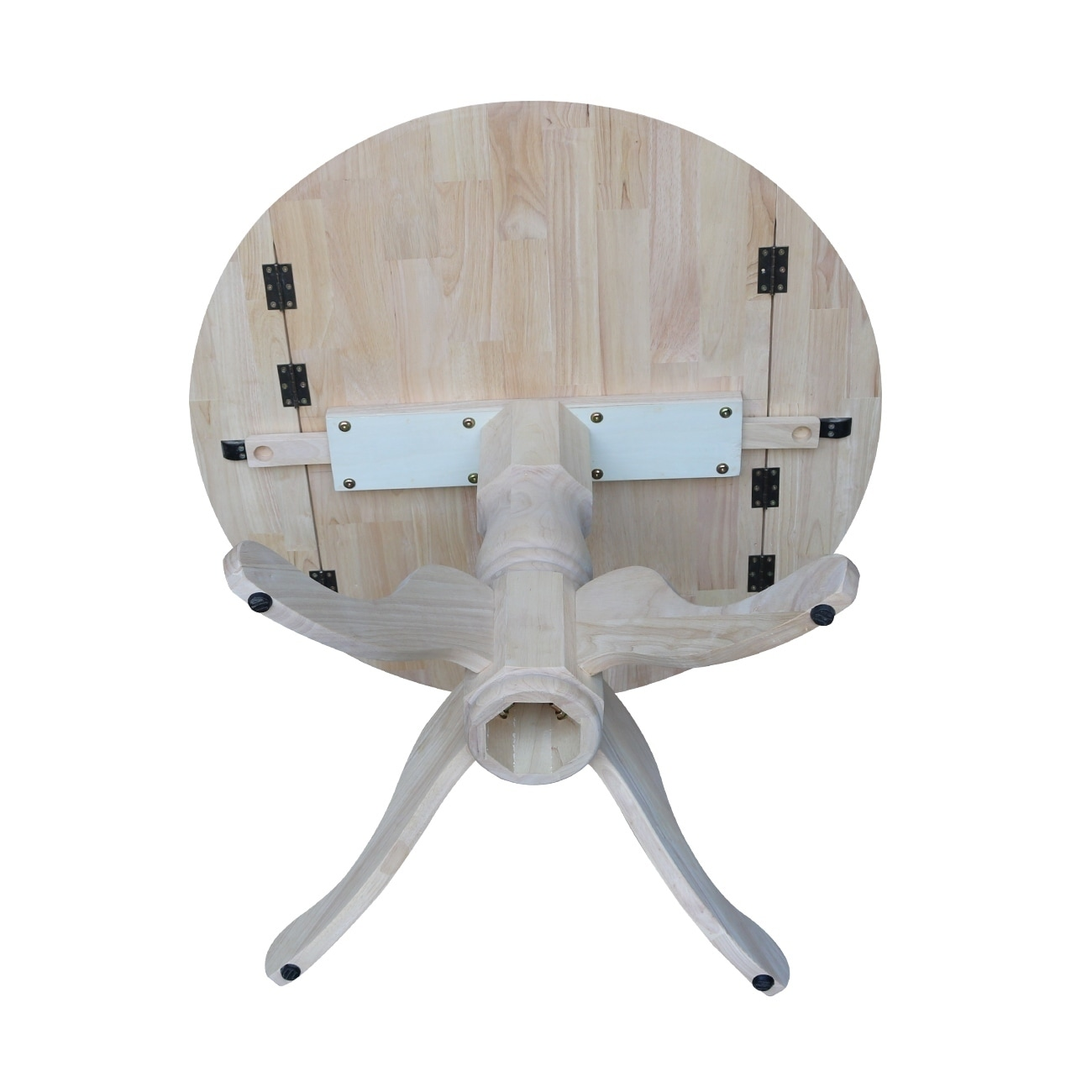 International Concepts Unfinished Round 36 Inch Dual Drop Leaf Dining Table On Free Shipping Today 9330875